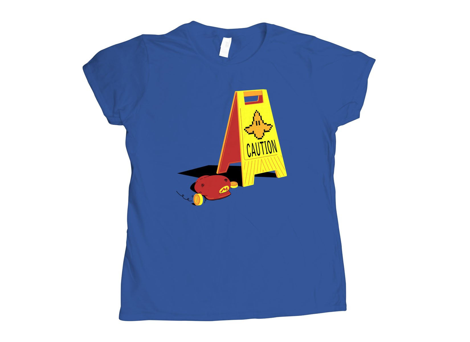 Caution Banana on Womens T-Shirt