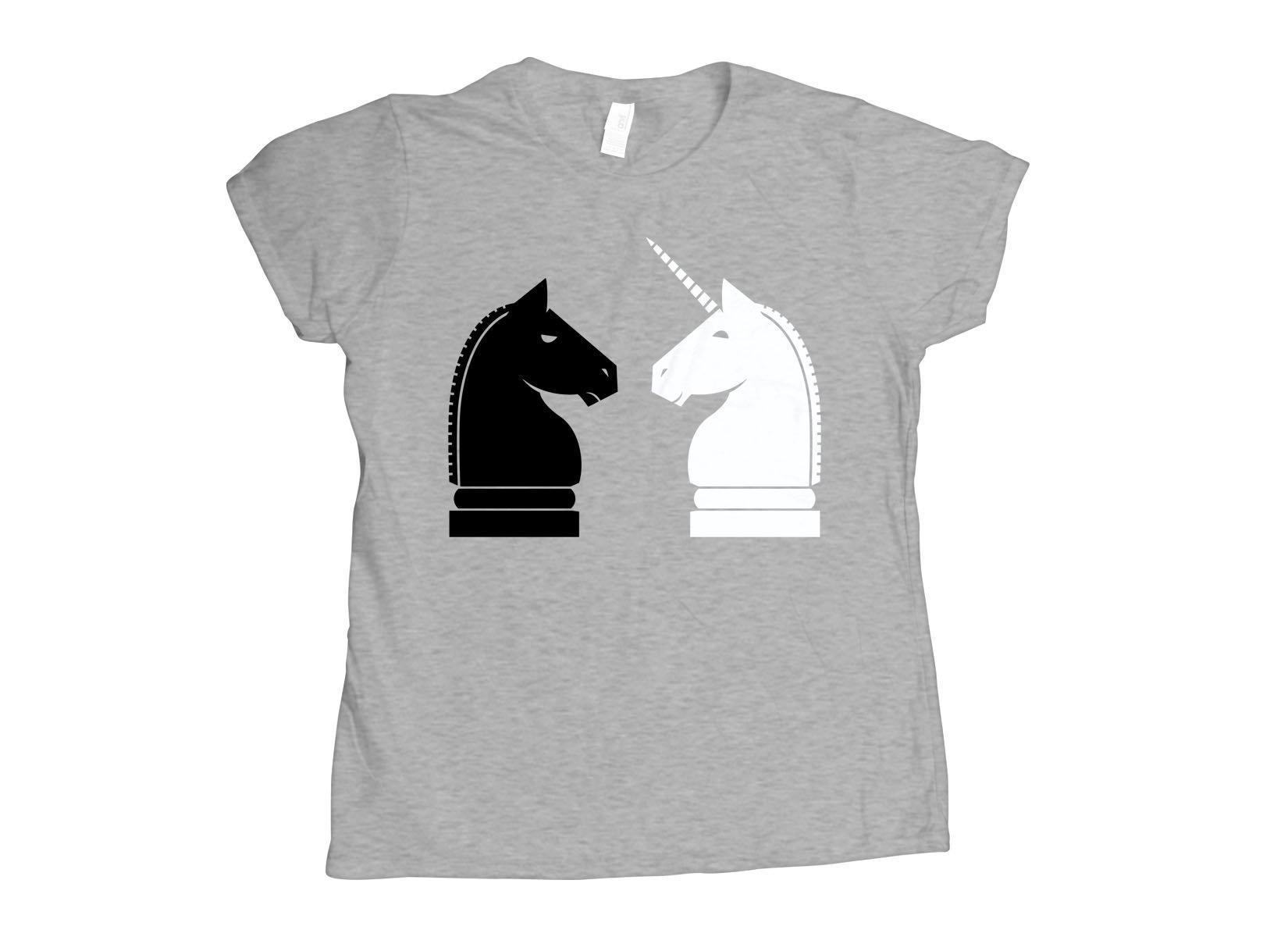 Chess Unicorn on Womens T-Shirt
