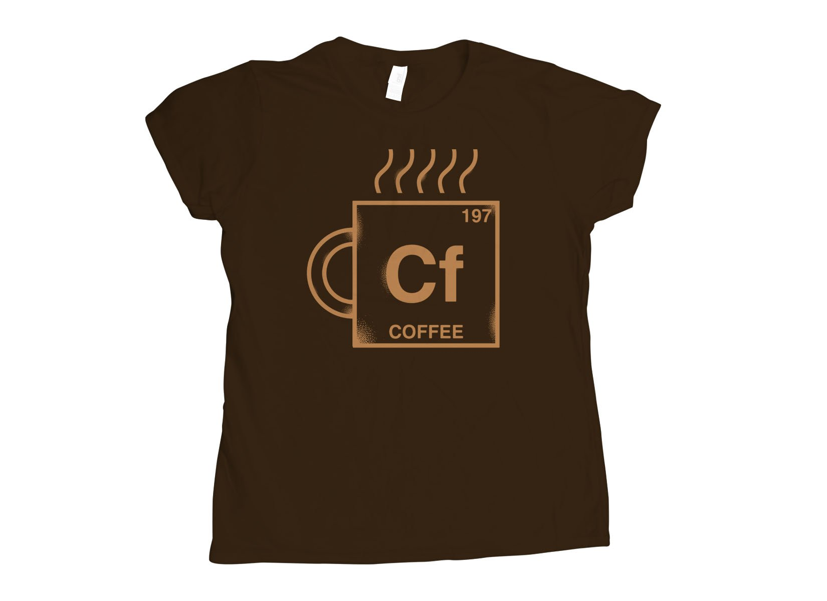 Coffee Element on Womens T-Shirt