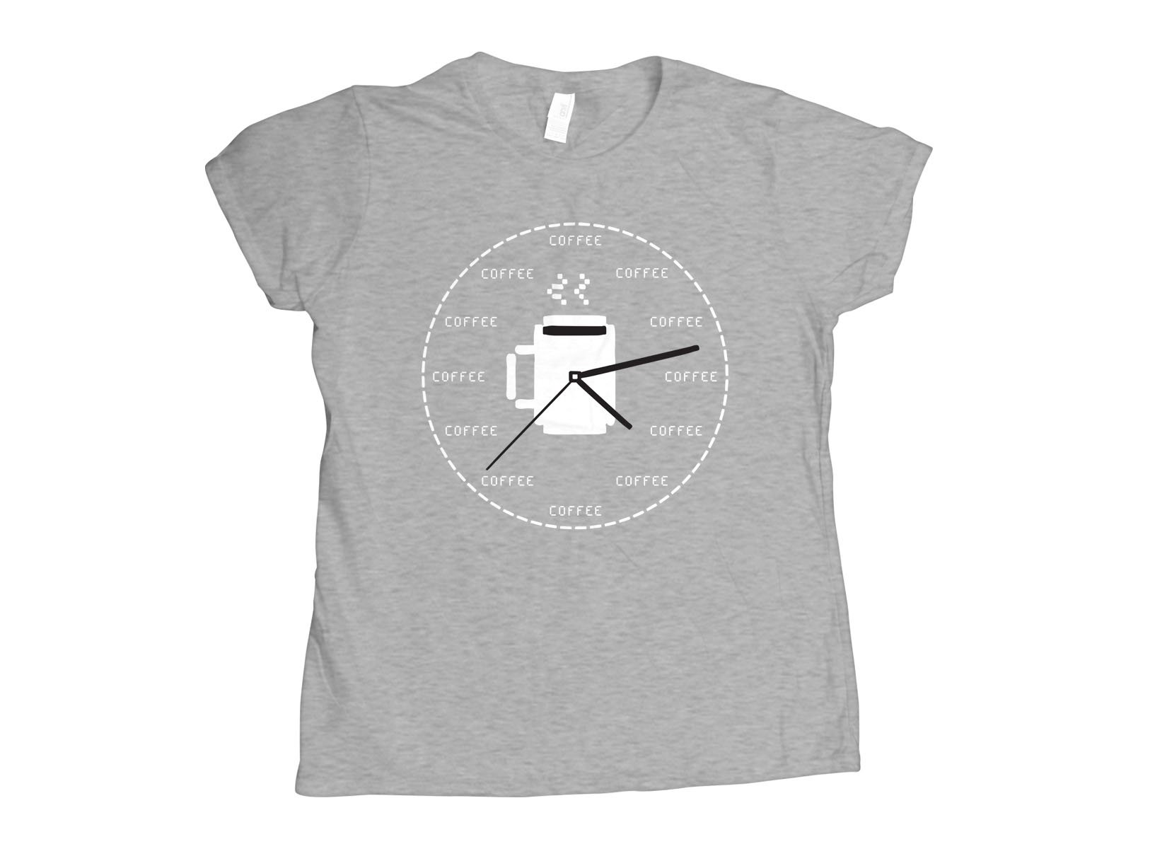 Coffee O'Clock on Womens T-Shirt