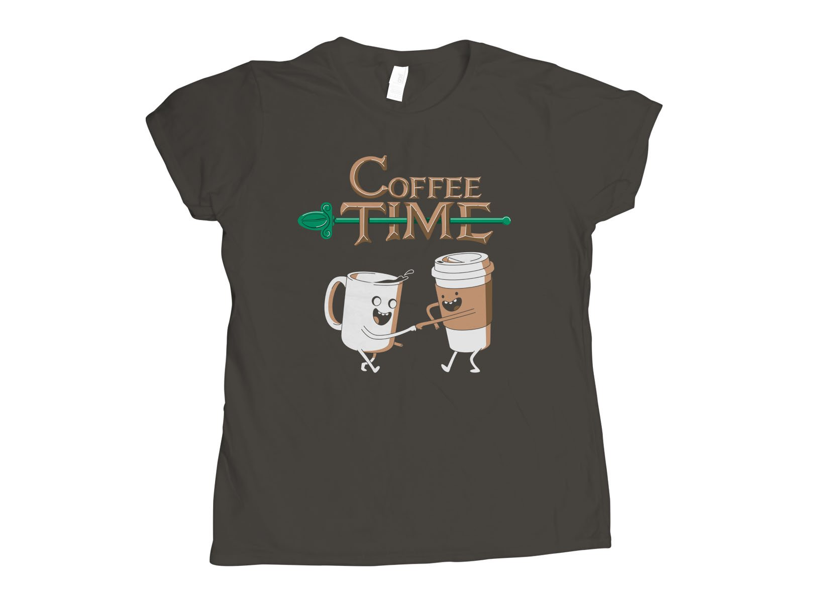 Coffee Time on Womens T-Shirt