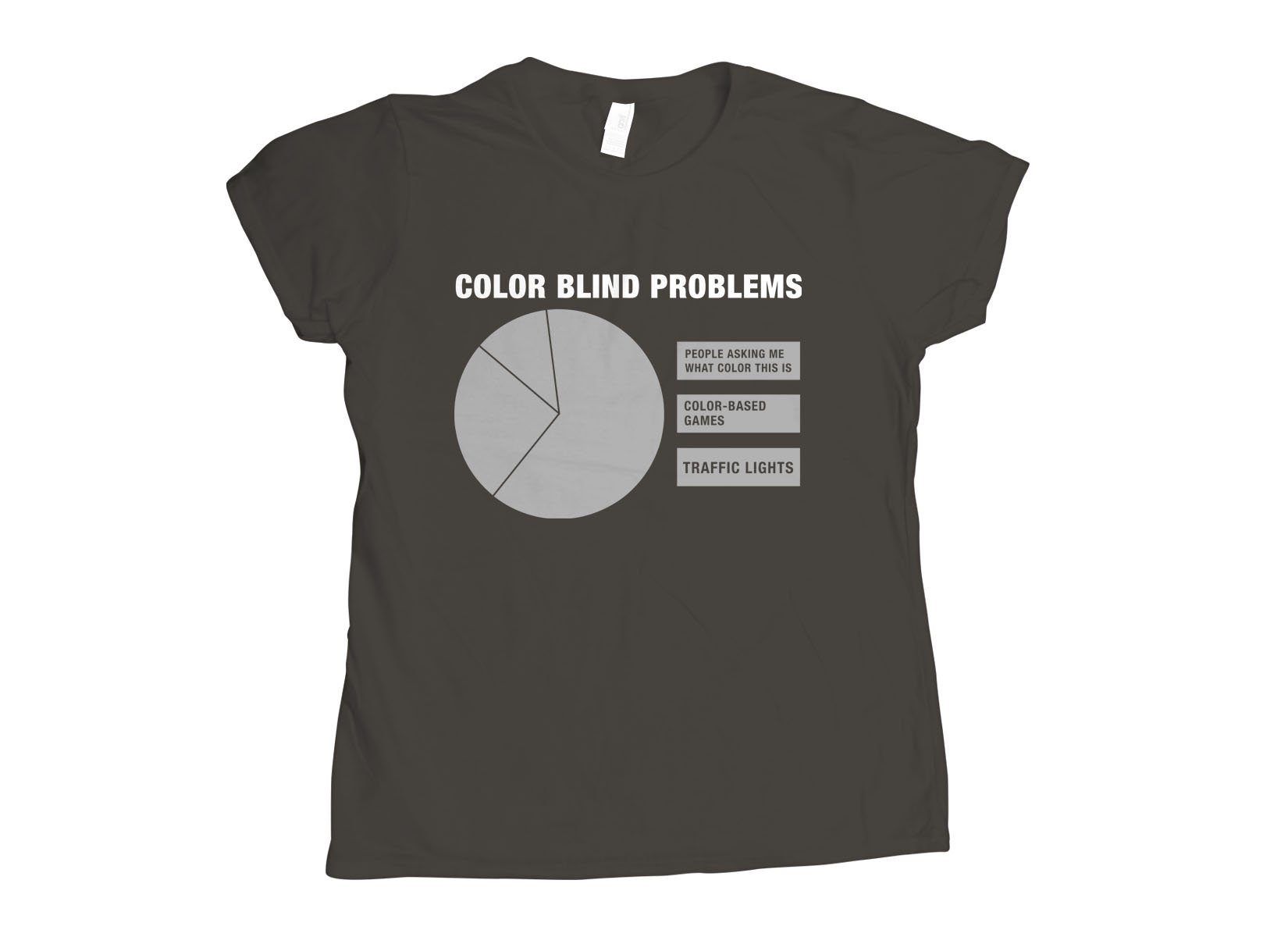 Color Blind Problems on Womens T-Shirt