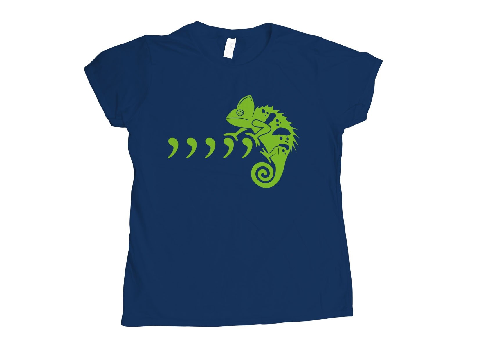 Comma Chameleon on Womens T-Shirt