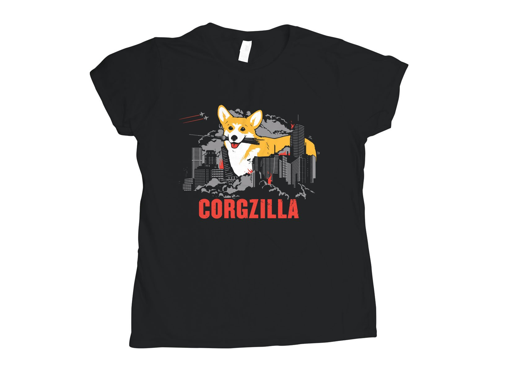 Corgzilla on Womens T-Shirt