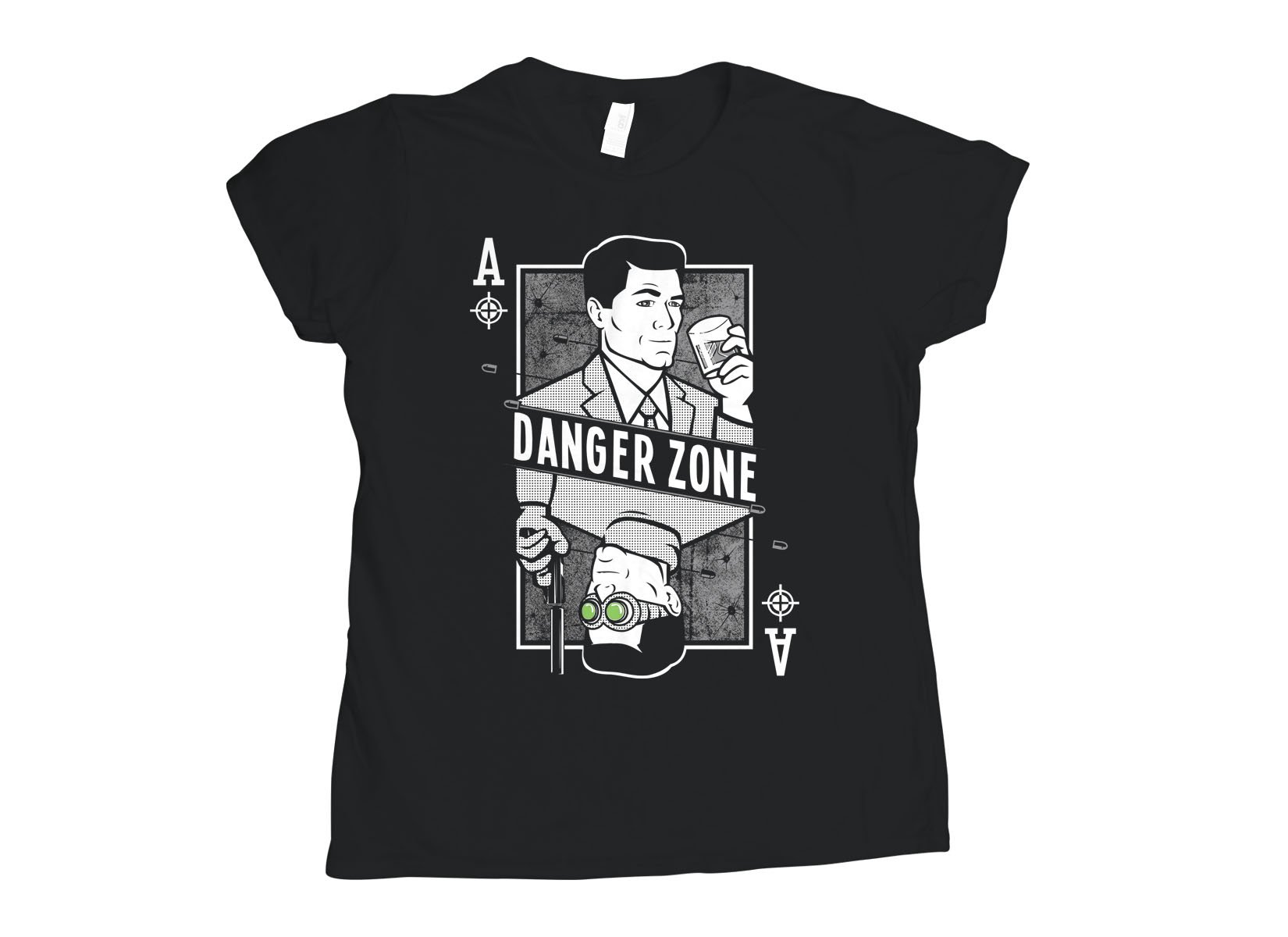 Danger Zone on Womens T-Shirt