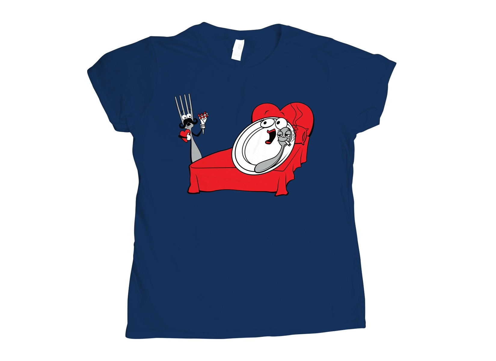 The Dish Ran Away on Womens T-Shirt