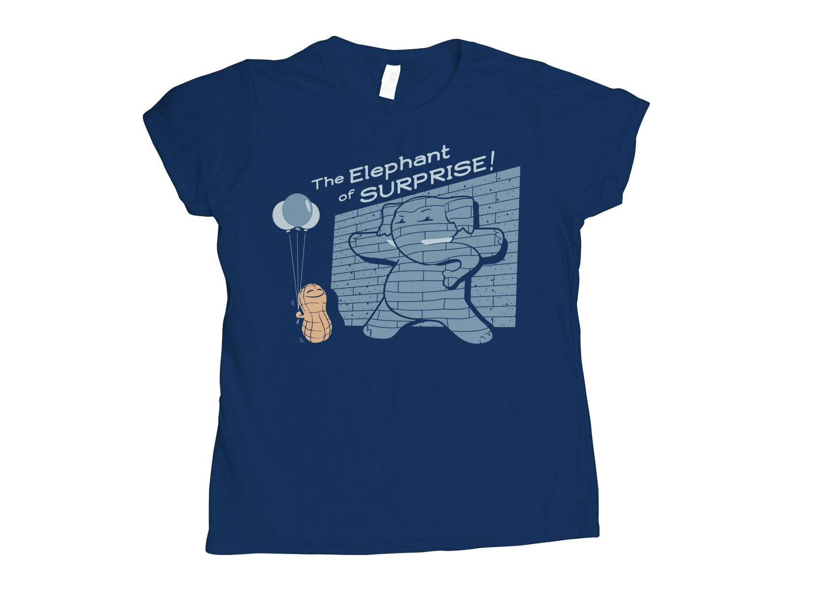 The Elephant of Surprise! on Womens T-Shirt