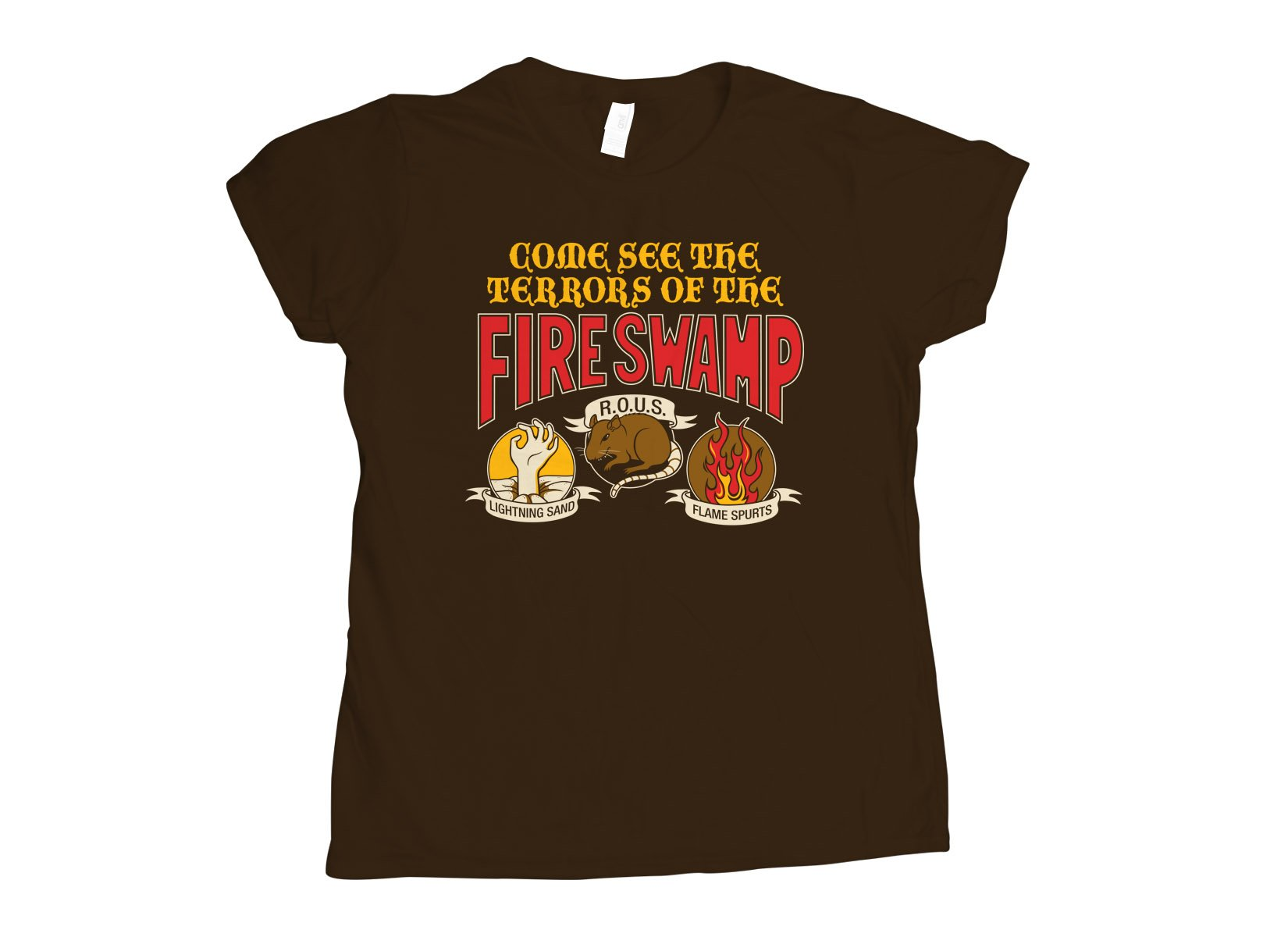 The Fire Swamp on Womens T-Shirt