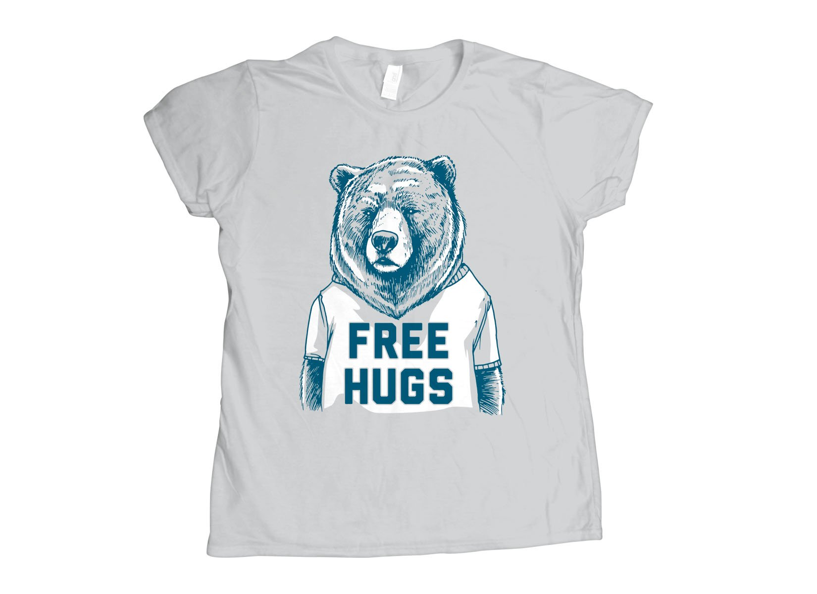 Free Hugs Bear on Womens T-Shirt