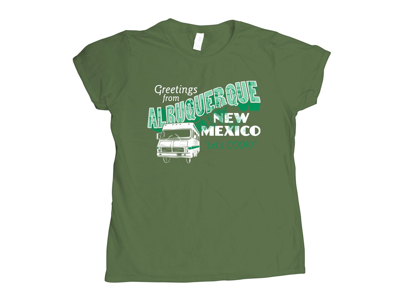 Greetings From Albuquerque on Womens T-Shirt