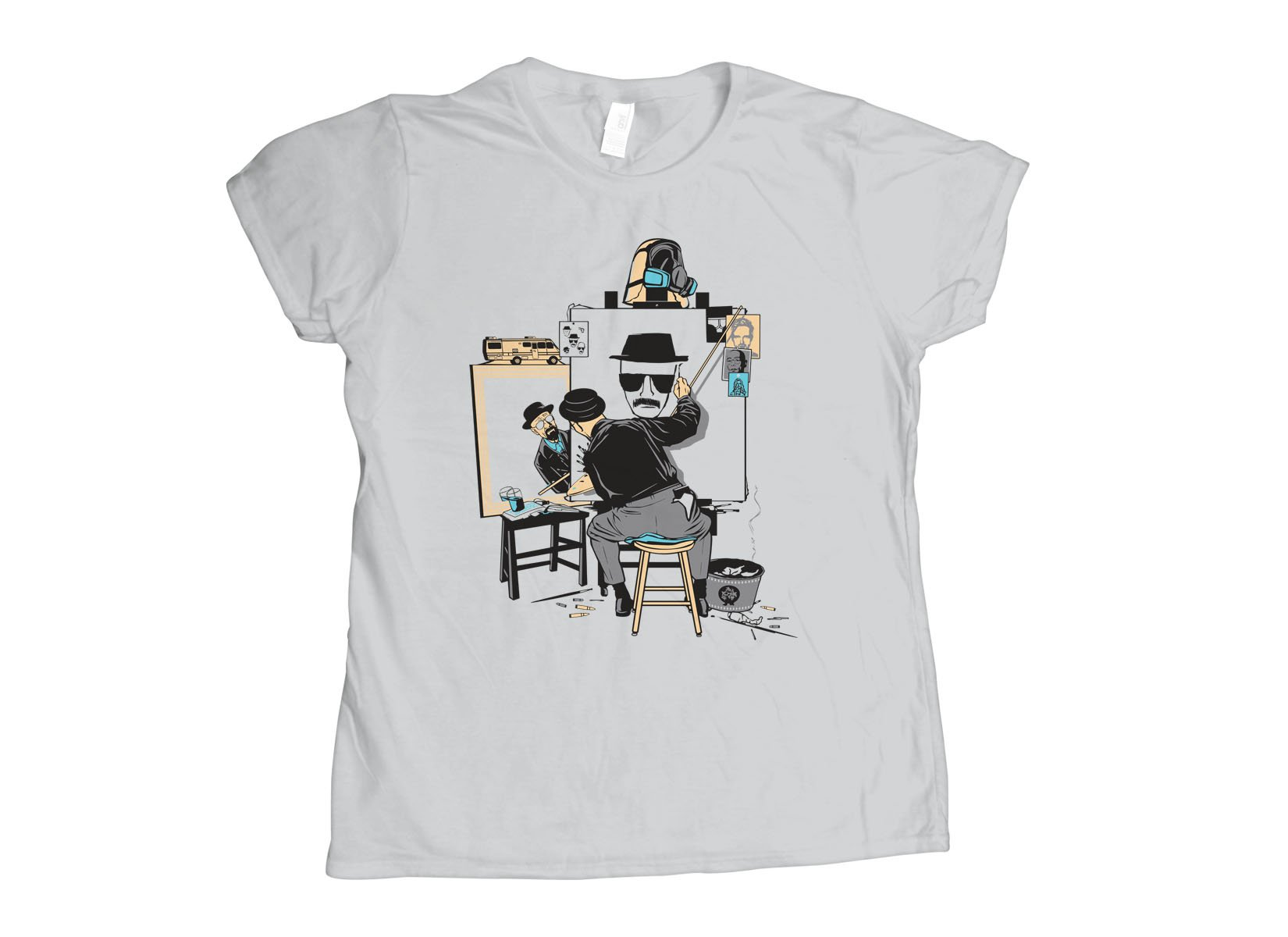 Heisenberg Self Portrait on Womens T-Shirt