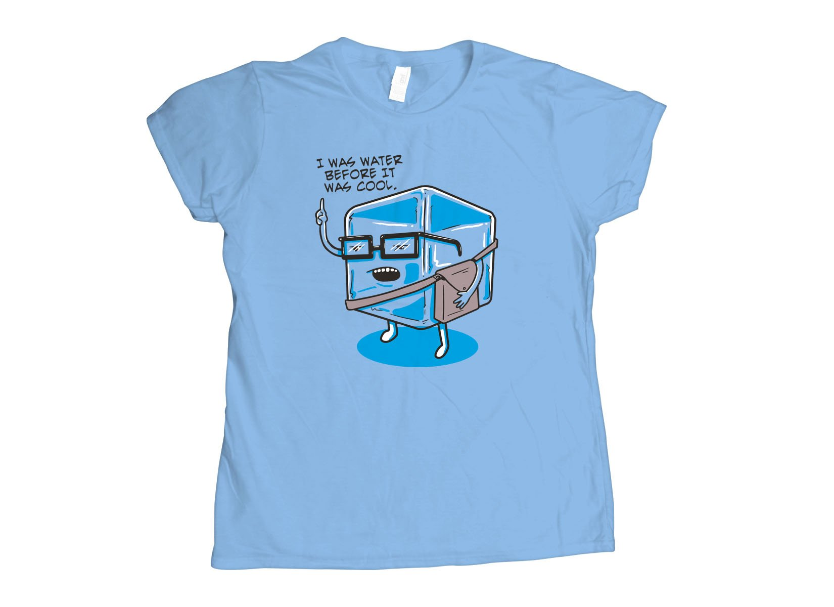 Hipster Ice Cube on Womens T-Shirt