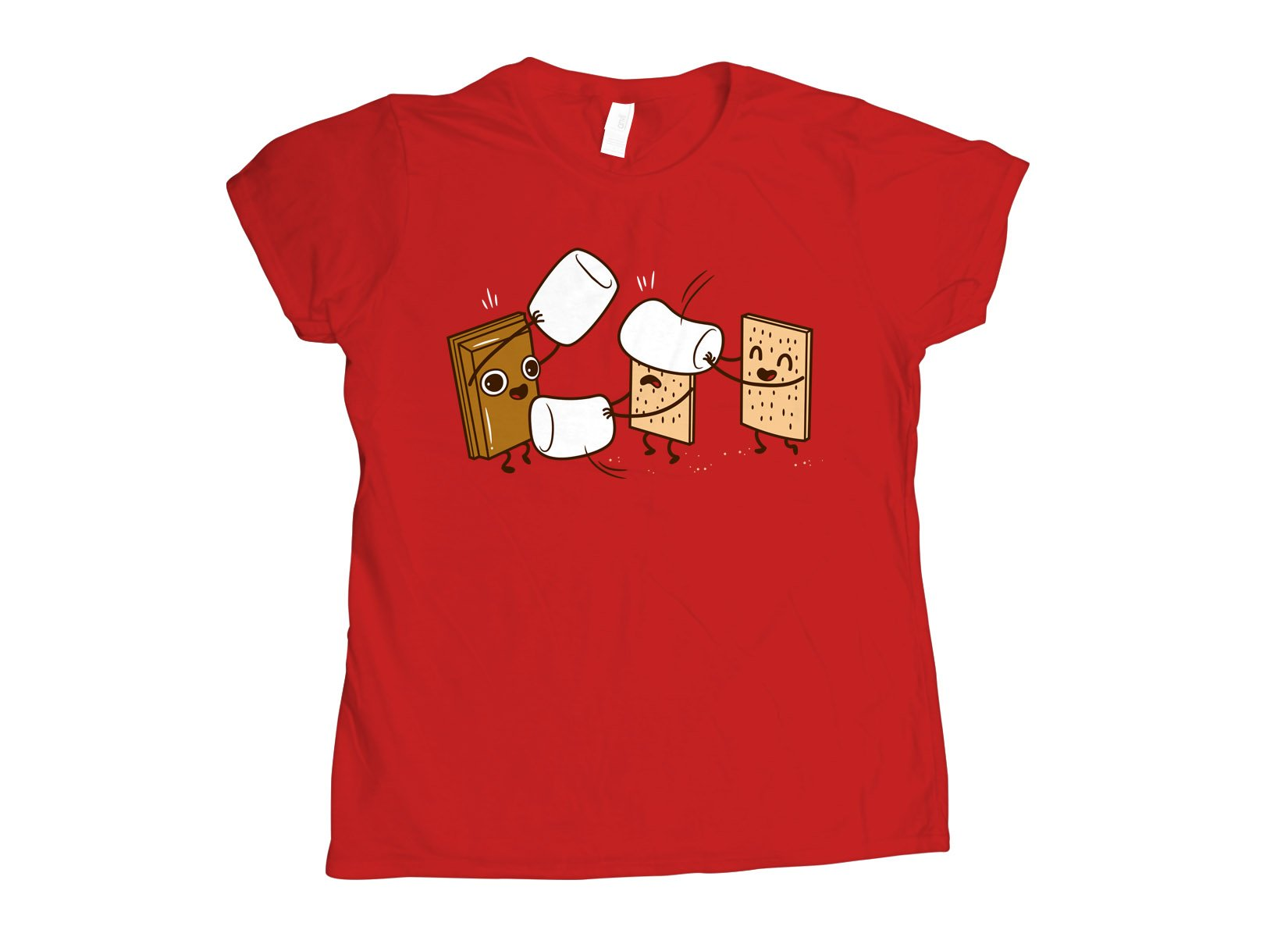 How S'mores Are Made on Womens T-Shirt