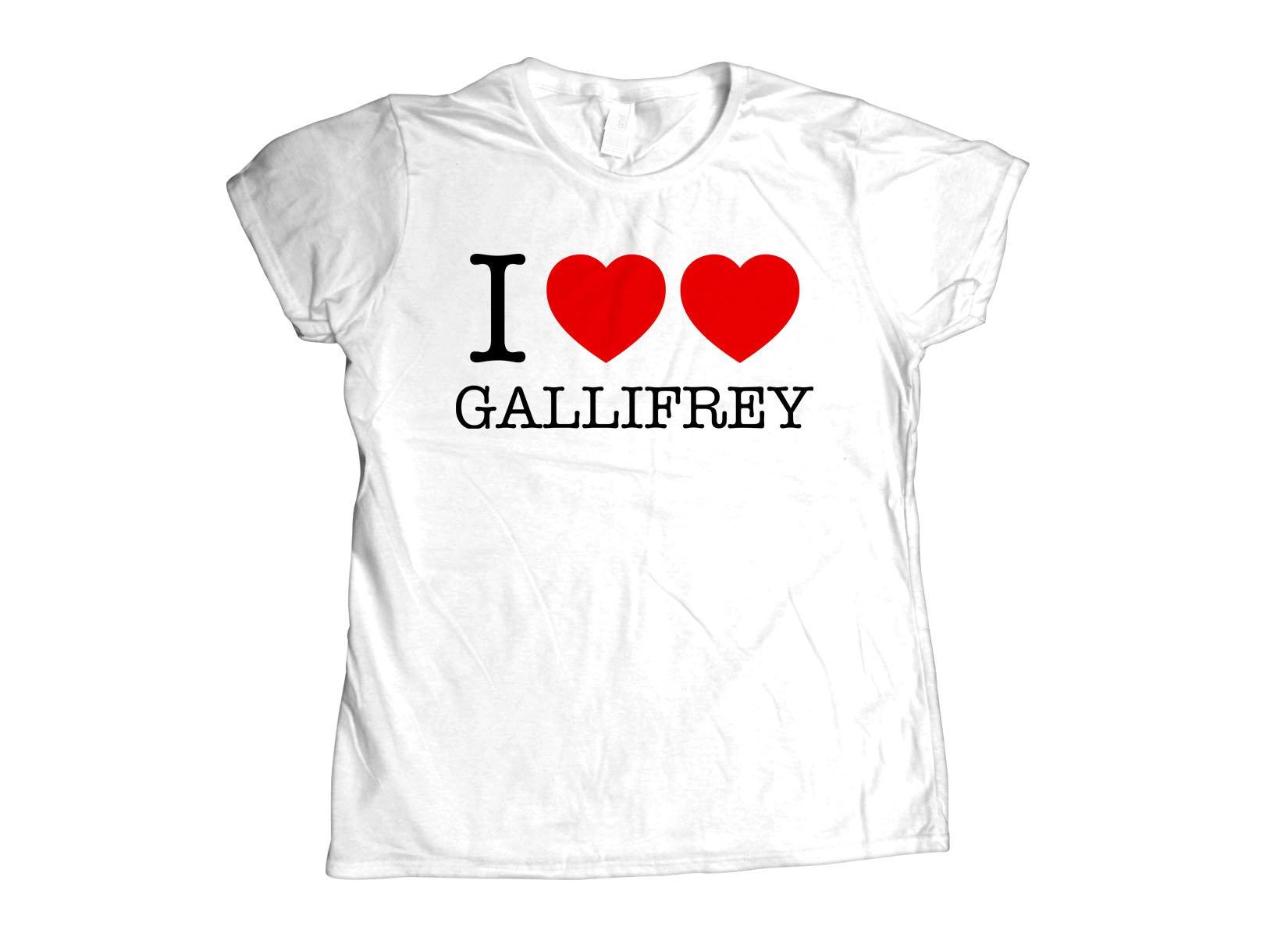 I Heart Heart Gallifrey on Womens T-Shirt