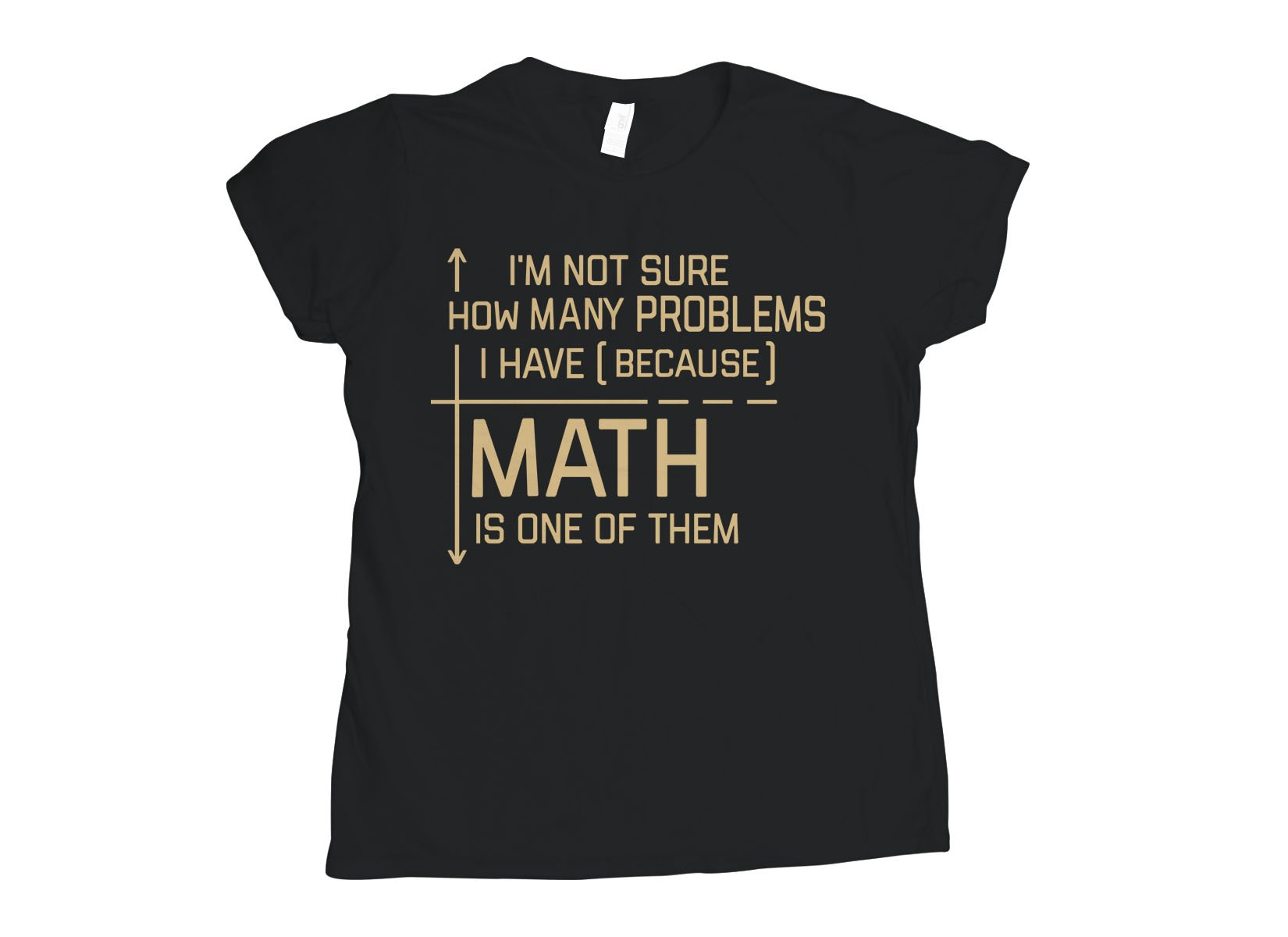 I'm Not Sure How Many Problems I Have on Womens T-Shirt