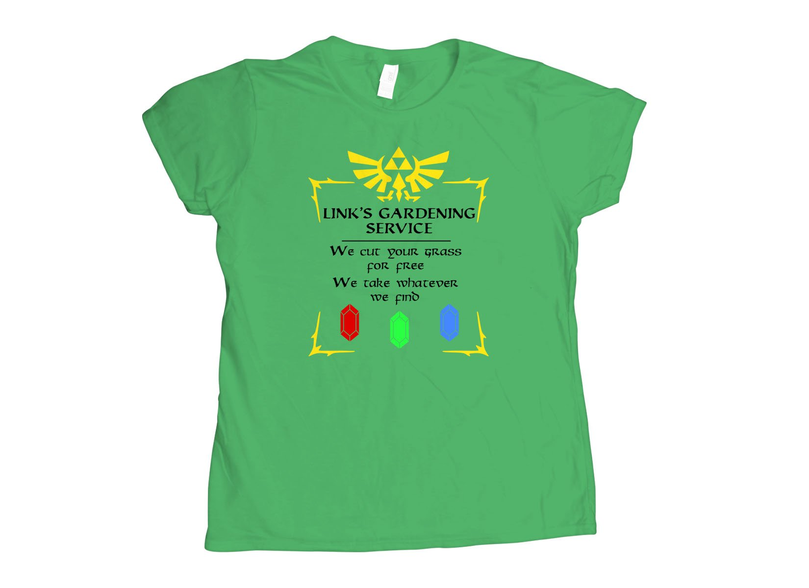 Link's Gardening Service on Womens T-Shirt