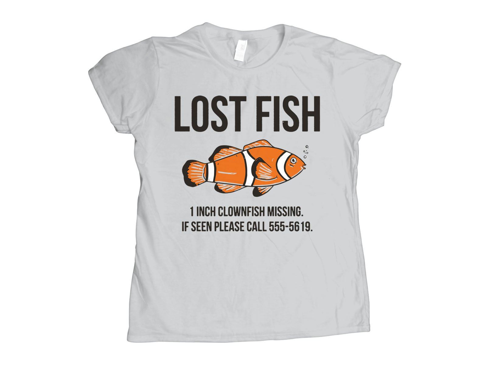 Lost Fish on Womens T-Shirt