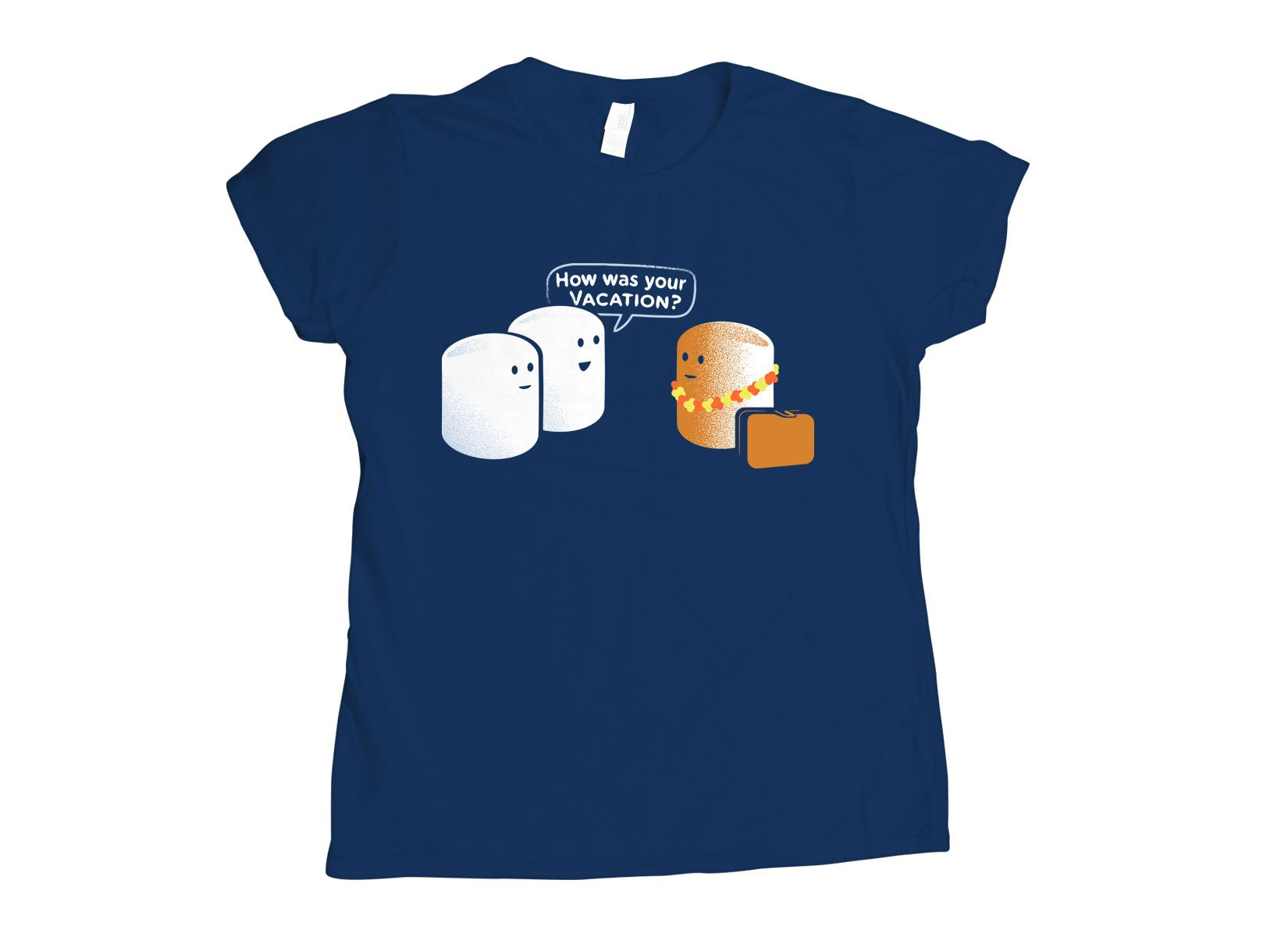 Marshmallow Vacation on Womens T-Shirt