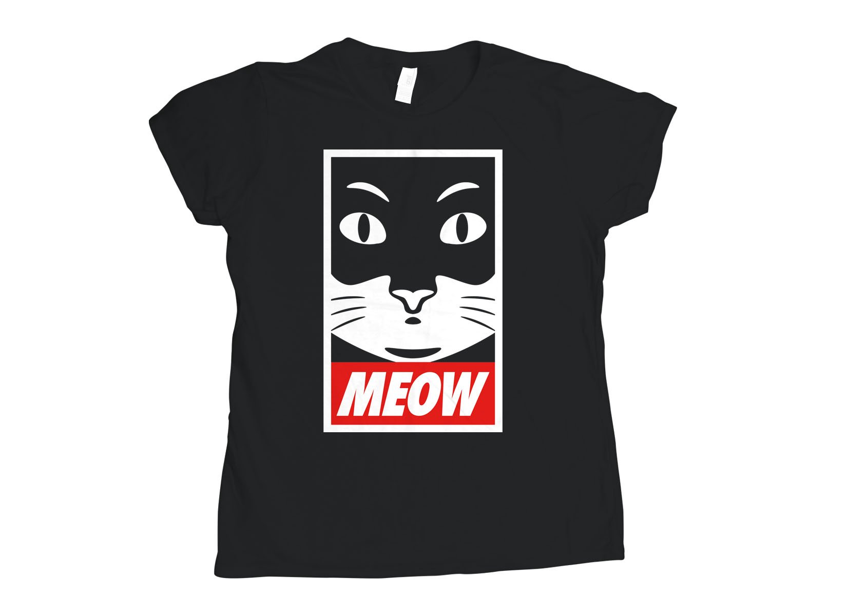 Meow on Womens T-Shirt