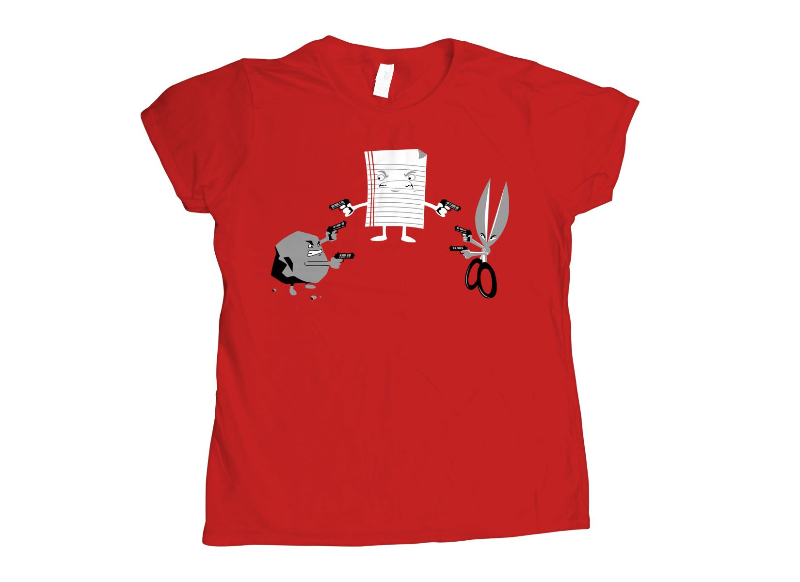 Mexican Standoff on Womens T-Shirt