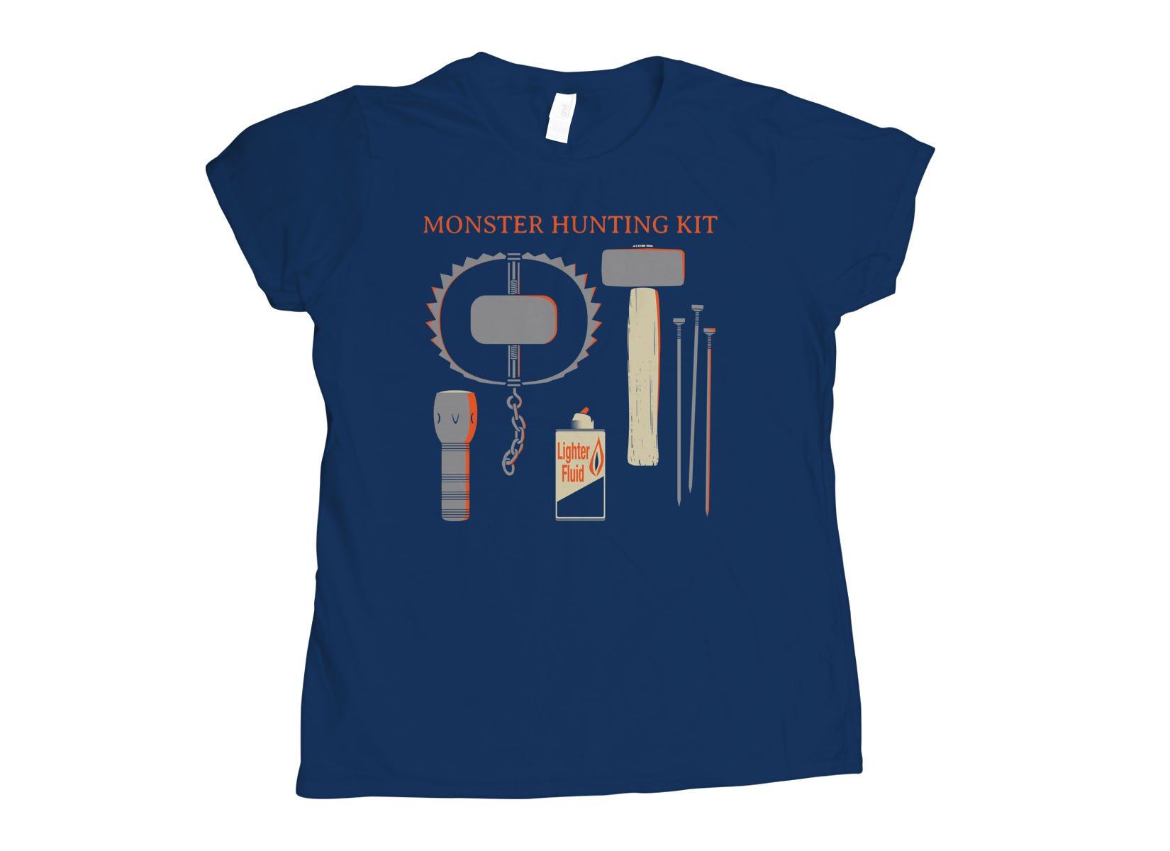 Monster Hunting Kit on Womens T-Shirt
