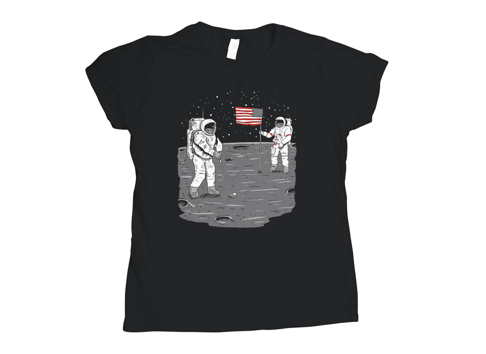Moon Golf on Womens T-Shirt