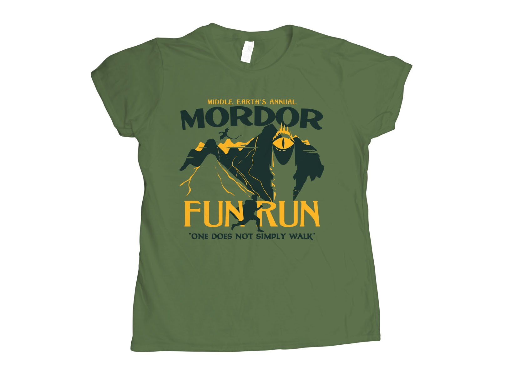 Mordor Fun Run on Womens T-Shirt