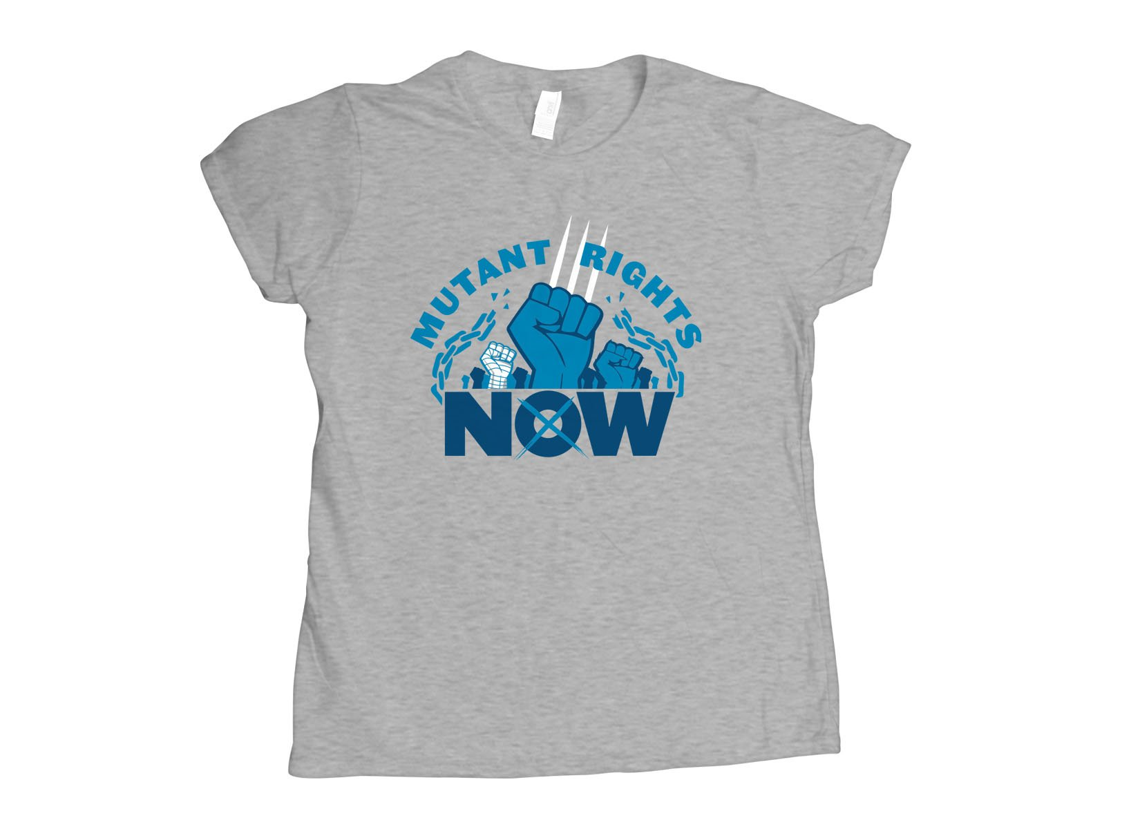 Mutant Rights Now! on Womens T-Shirt