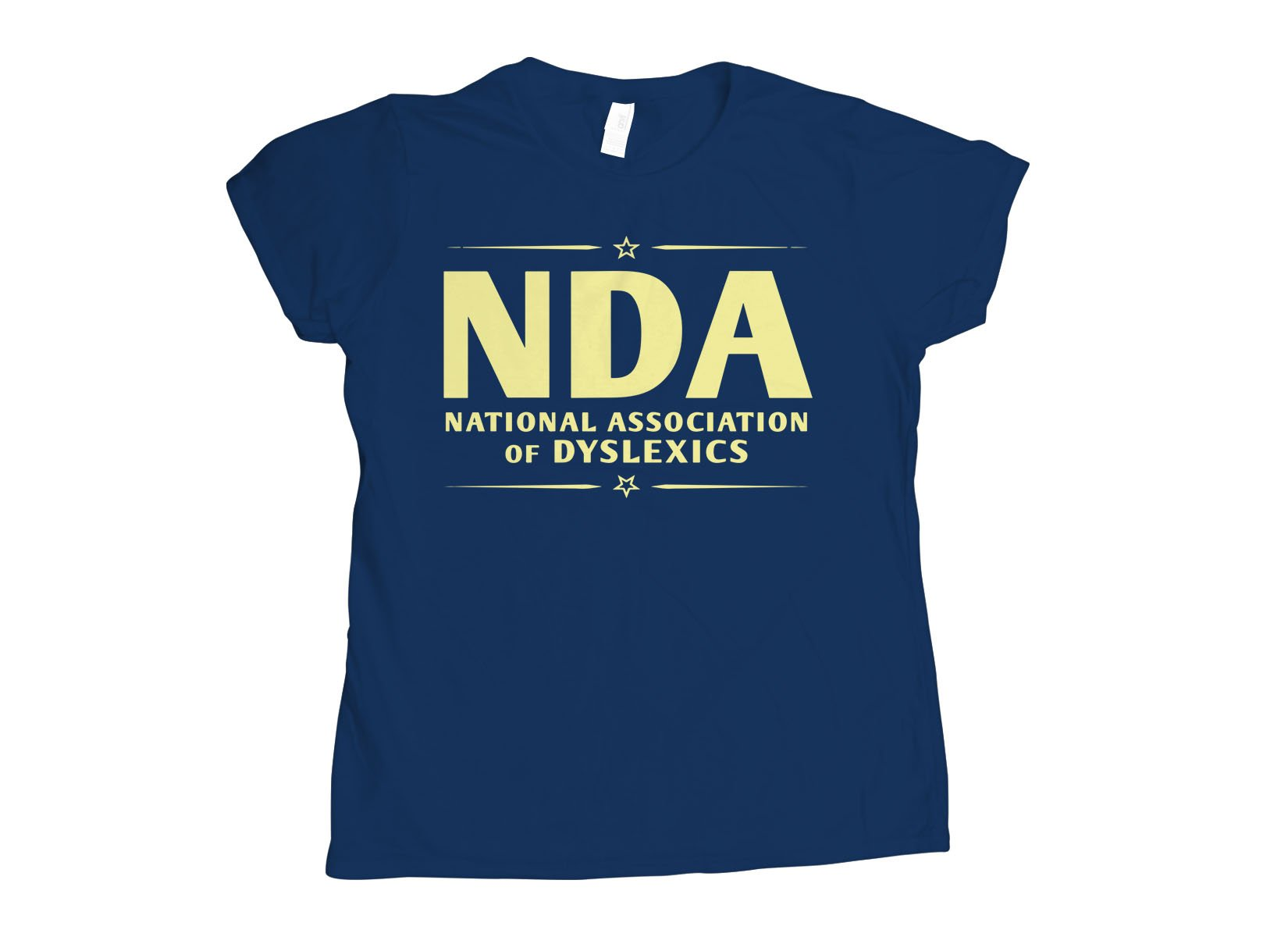 National Association of Dyslexics on Womens T-Shirt