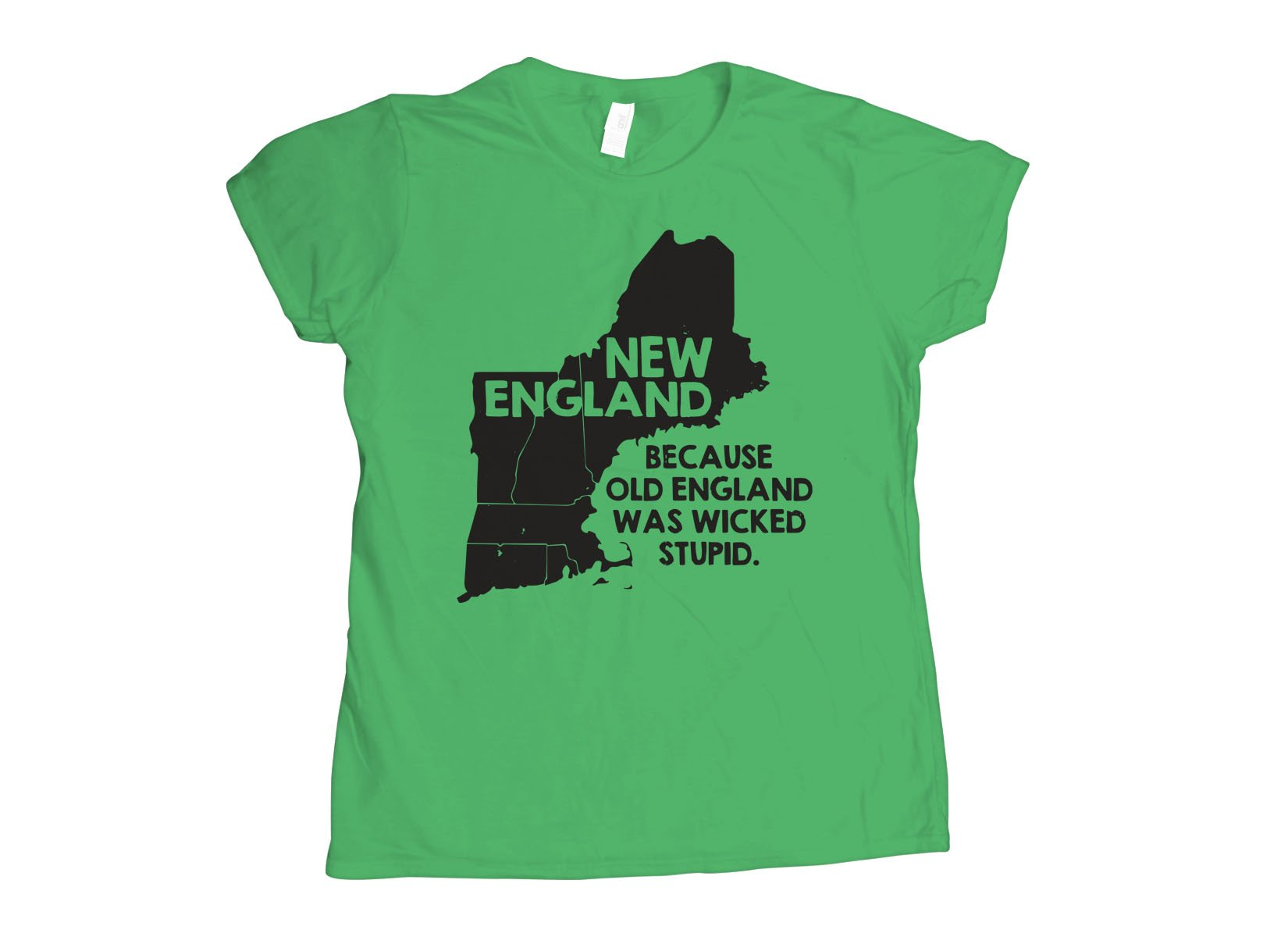 New England, Because Old England Was Wicked Stupid on Womens T-Shirt