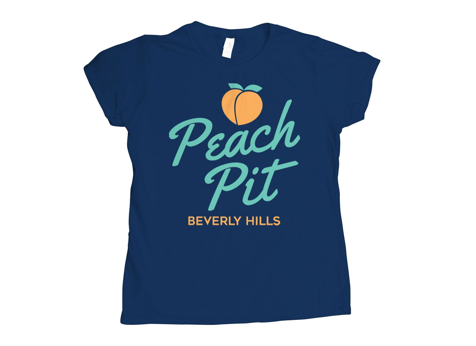 Peach Pit on Womens T-Shirt
