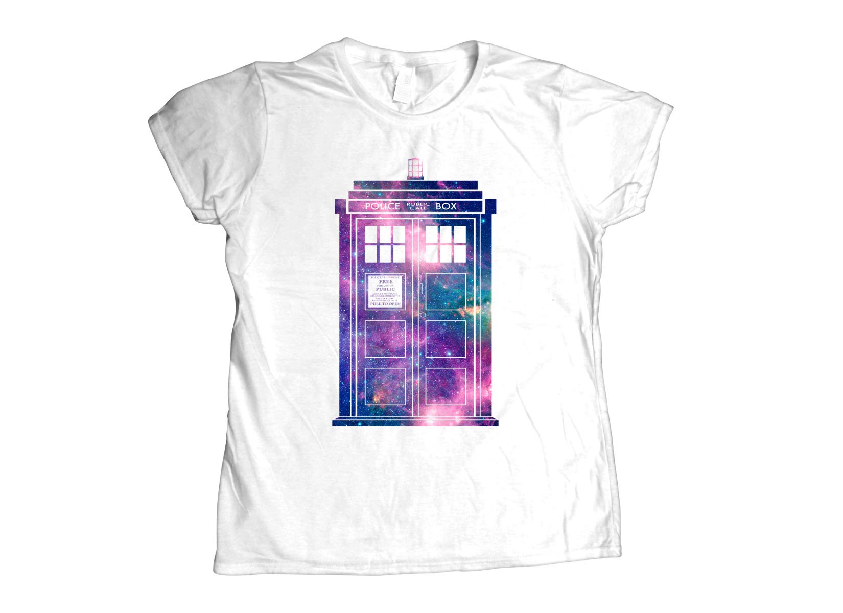 Police Box on Womens T-Shirt