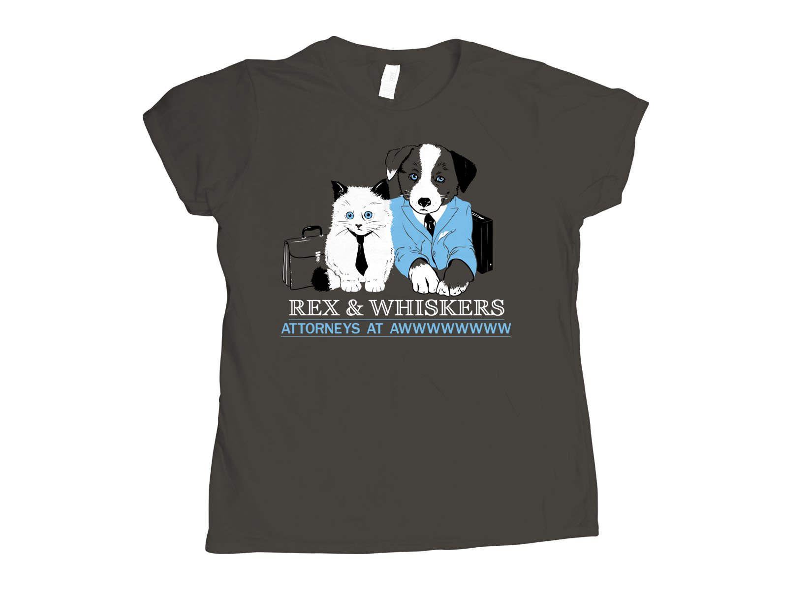 Rex and Whiskers Attorneys on Womens T-Shirt