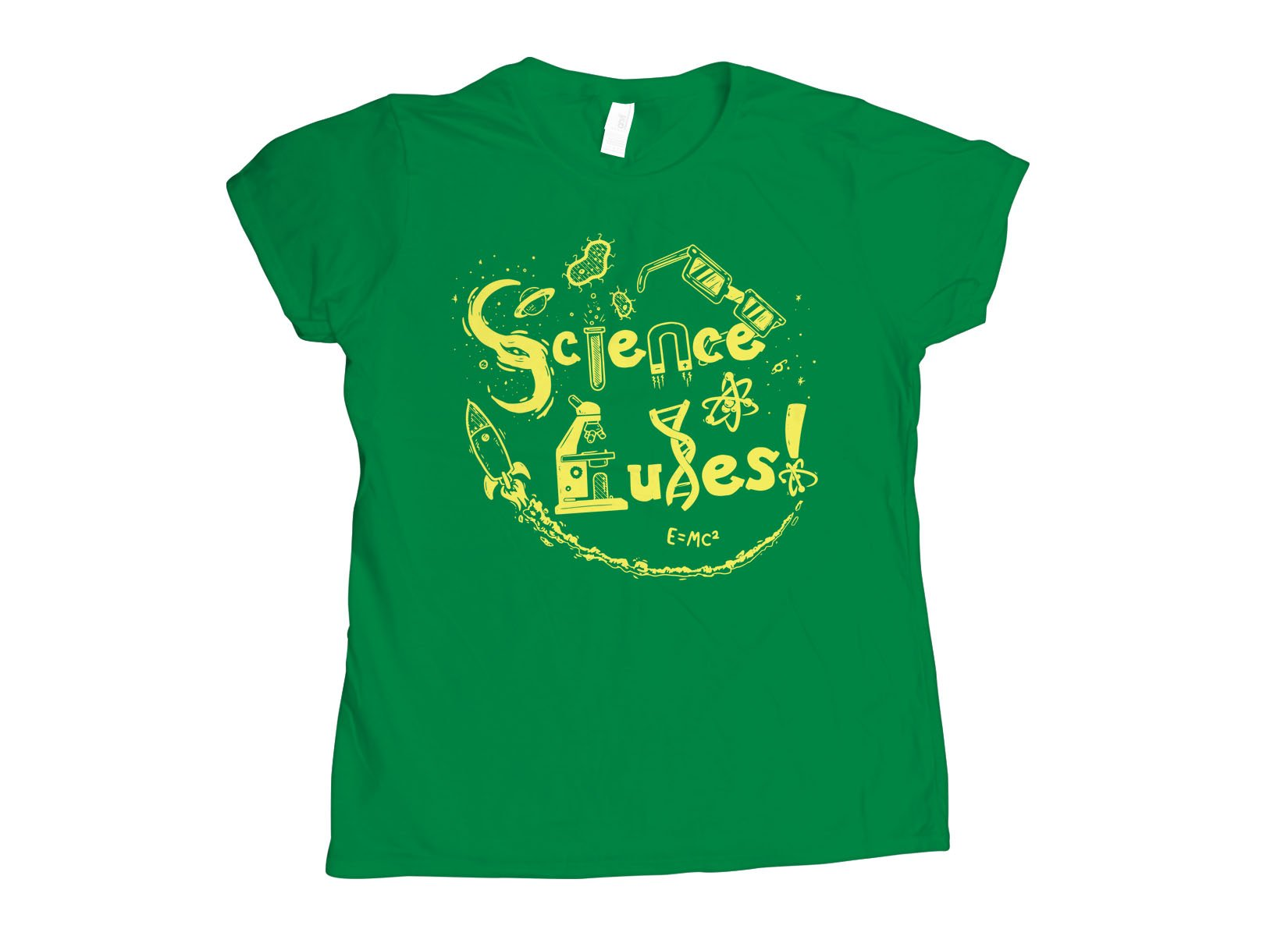 Science Rules! on Womens T-Shirt