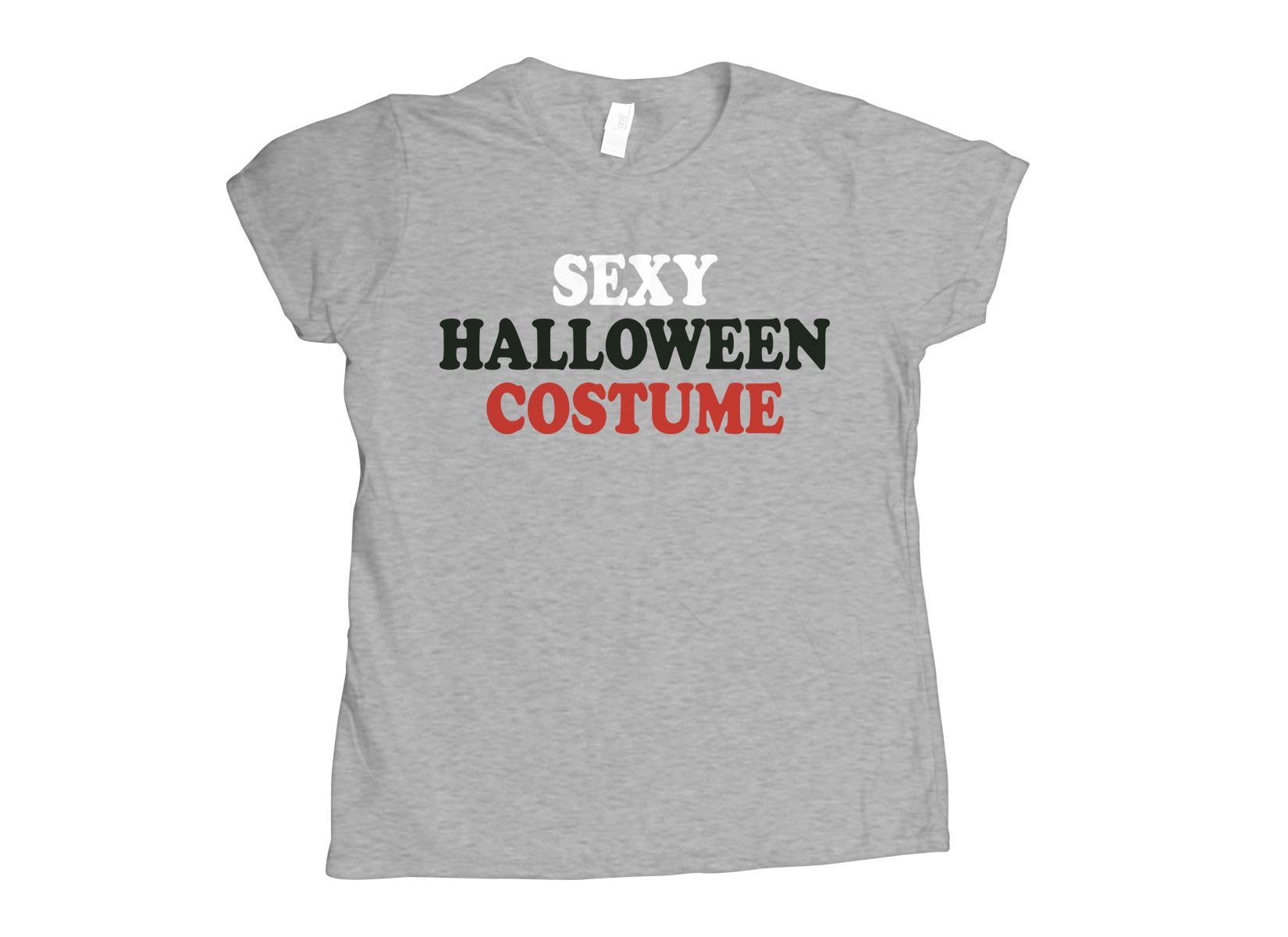 Sexy Halloween Costume on Womens T-Shirt