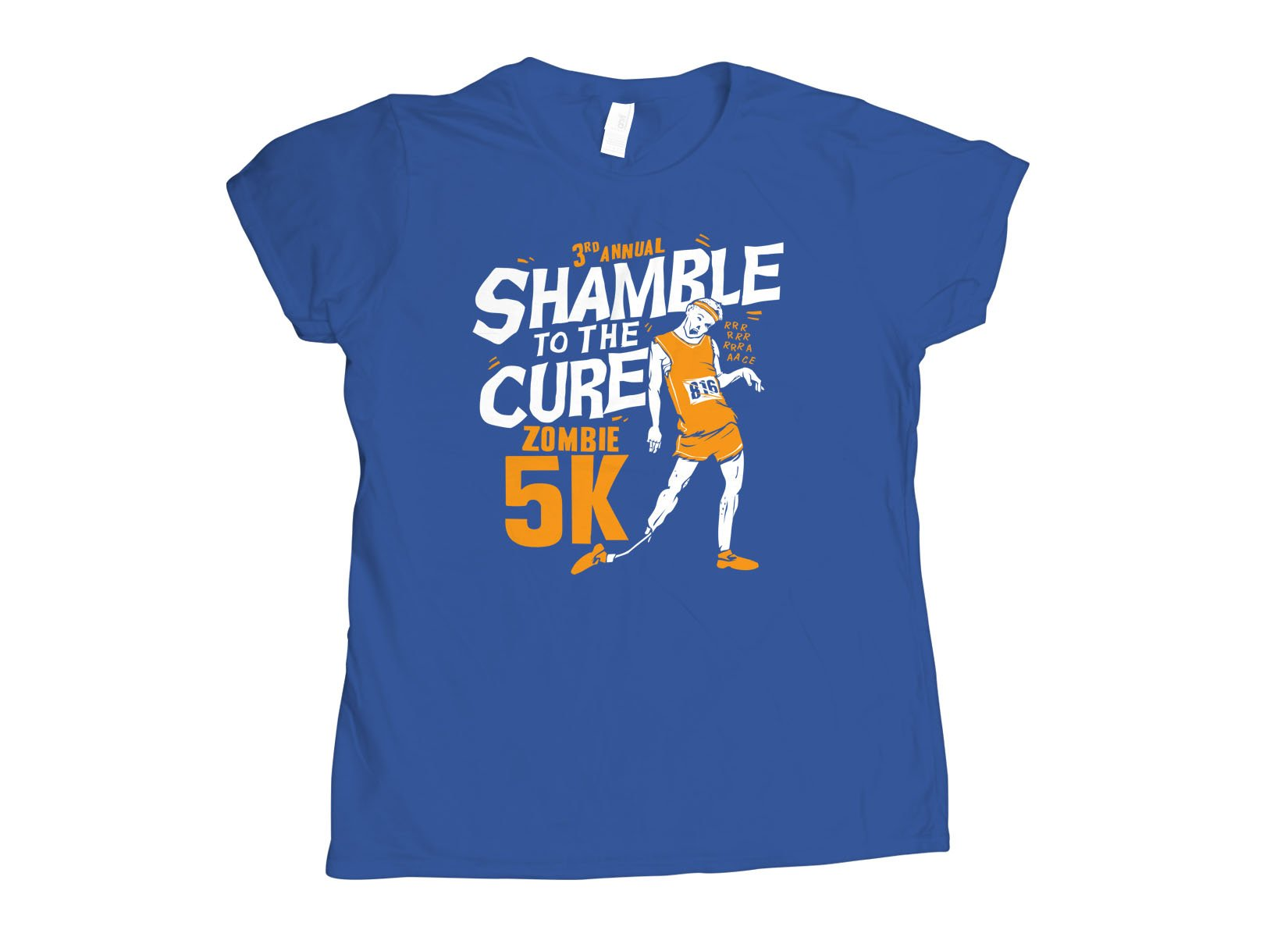 Shamble To The Cure Zombie 5K on Womens T-Shirt
