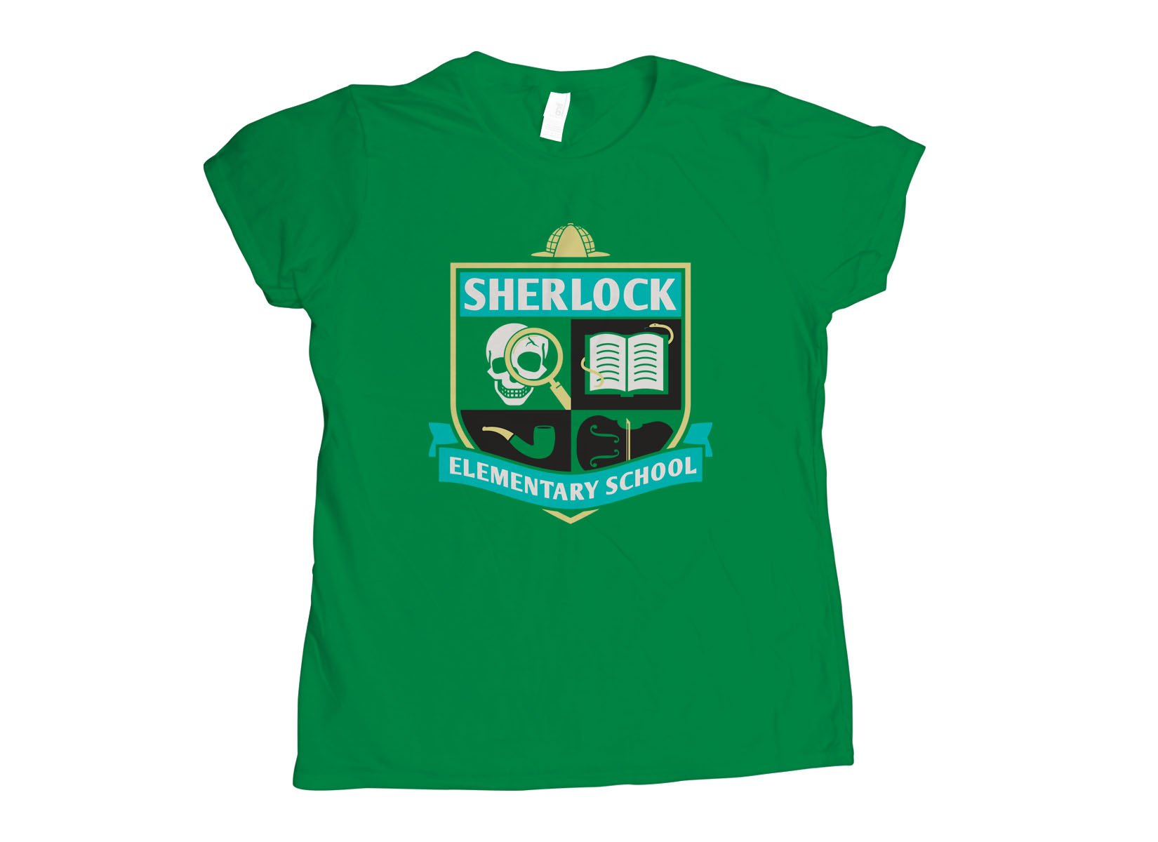Sherlock Elementary School on Womens T-Shirt