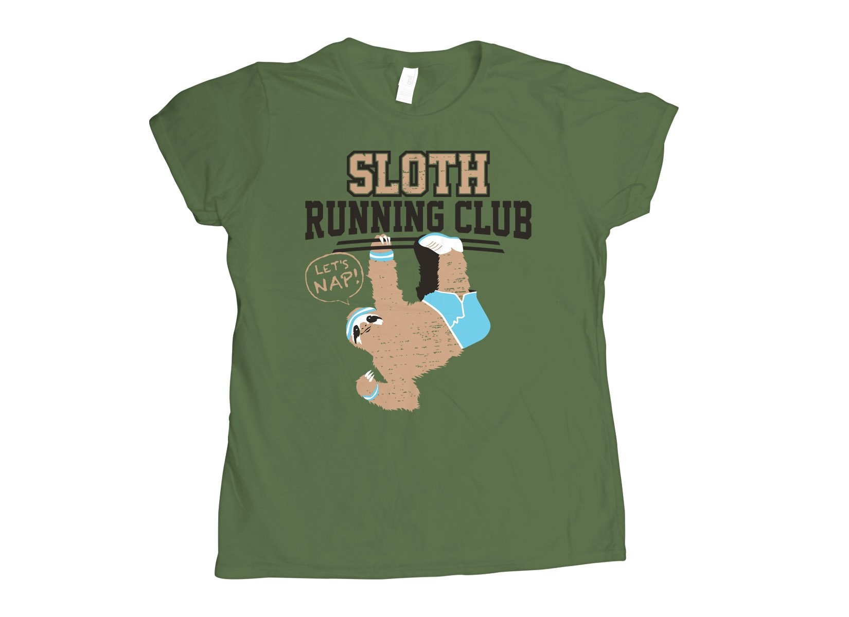 Sloth Running Club on Womens T-Shirt