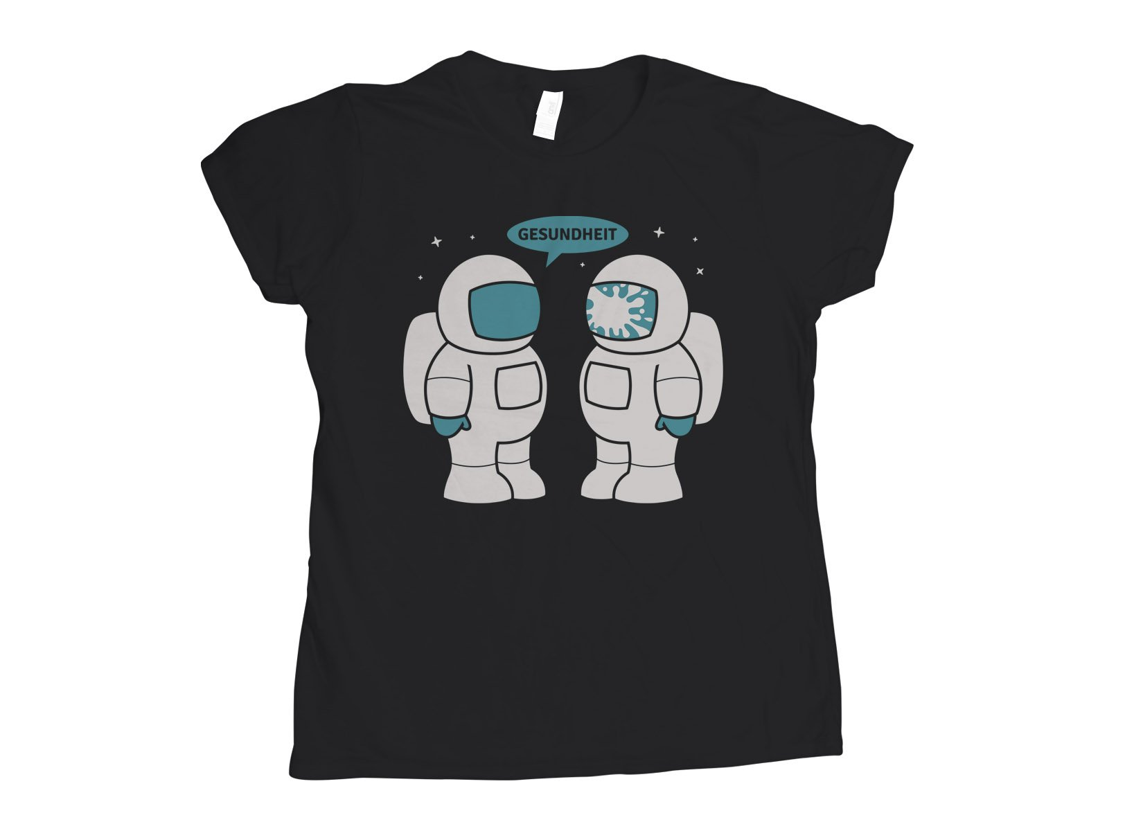 Space Sneeze on Womens T-Shirt