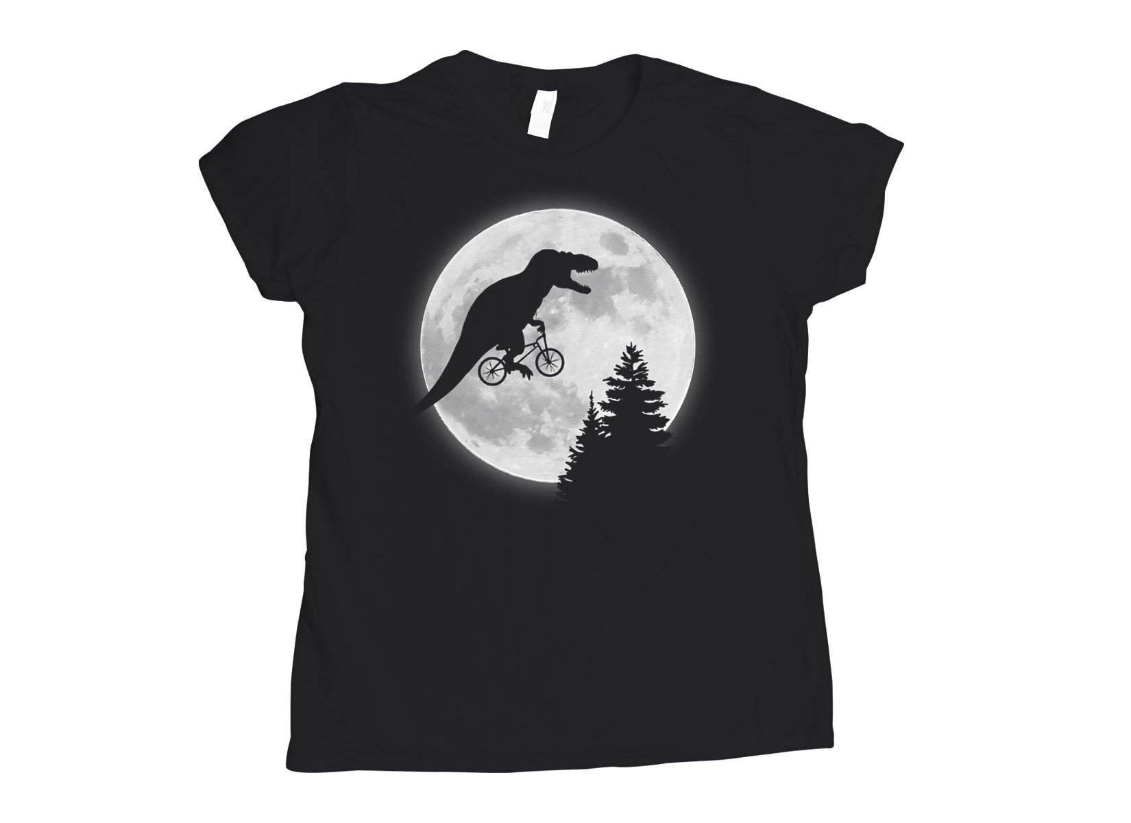 T-Rex Moon on Womens T-Shirt