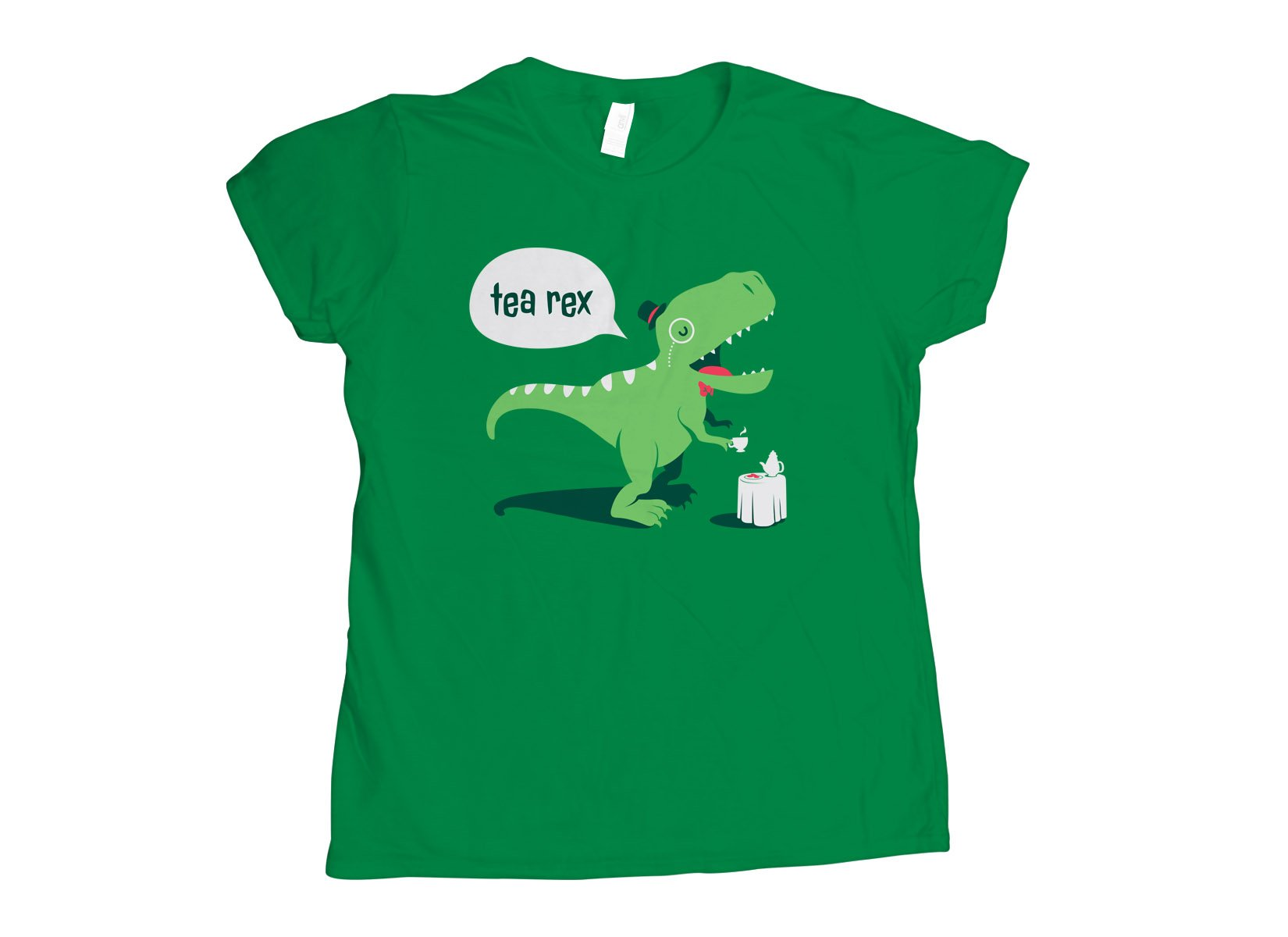 Tea Rex on Womens T-Shirt