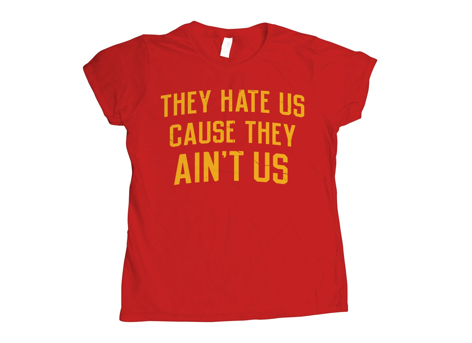 They Hate Us Cause They Ain't Us on Womens T-Shirt