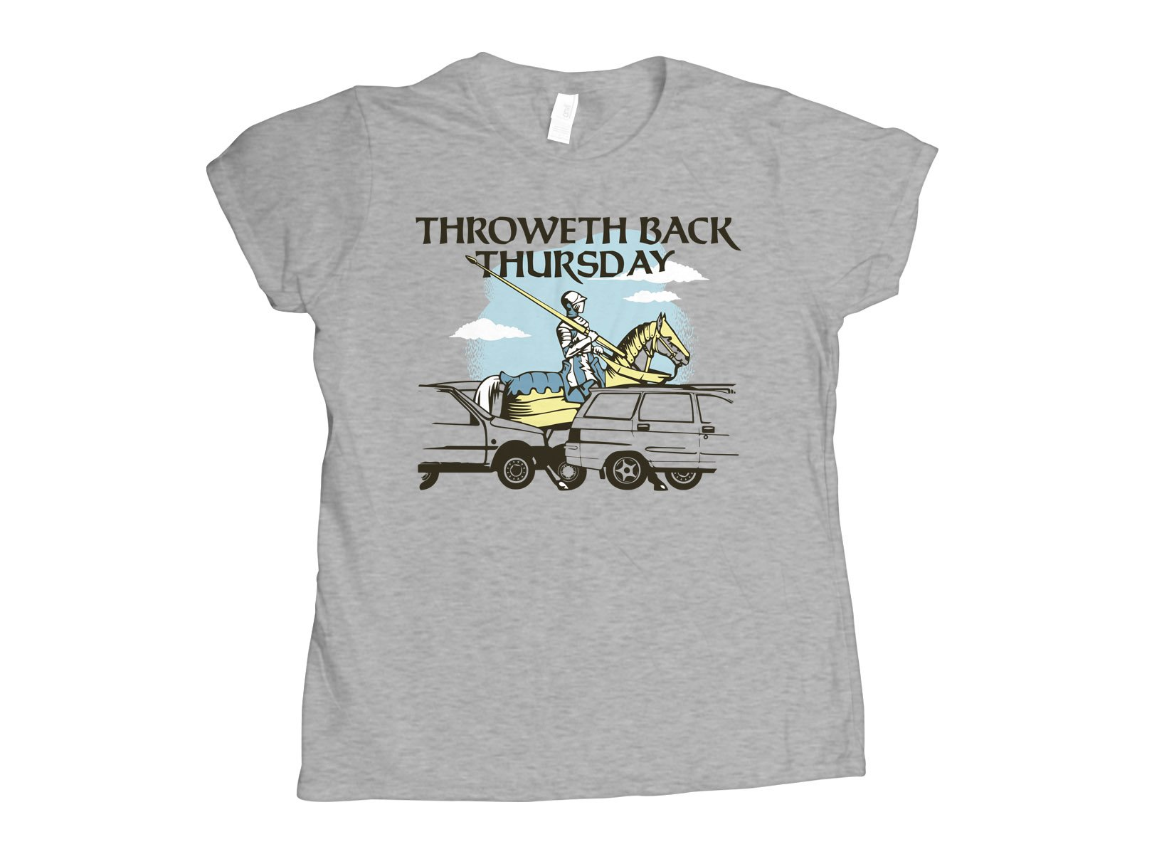 Throweth Back Thursday on Womens T-Shirt