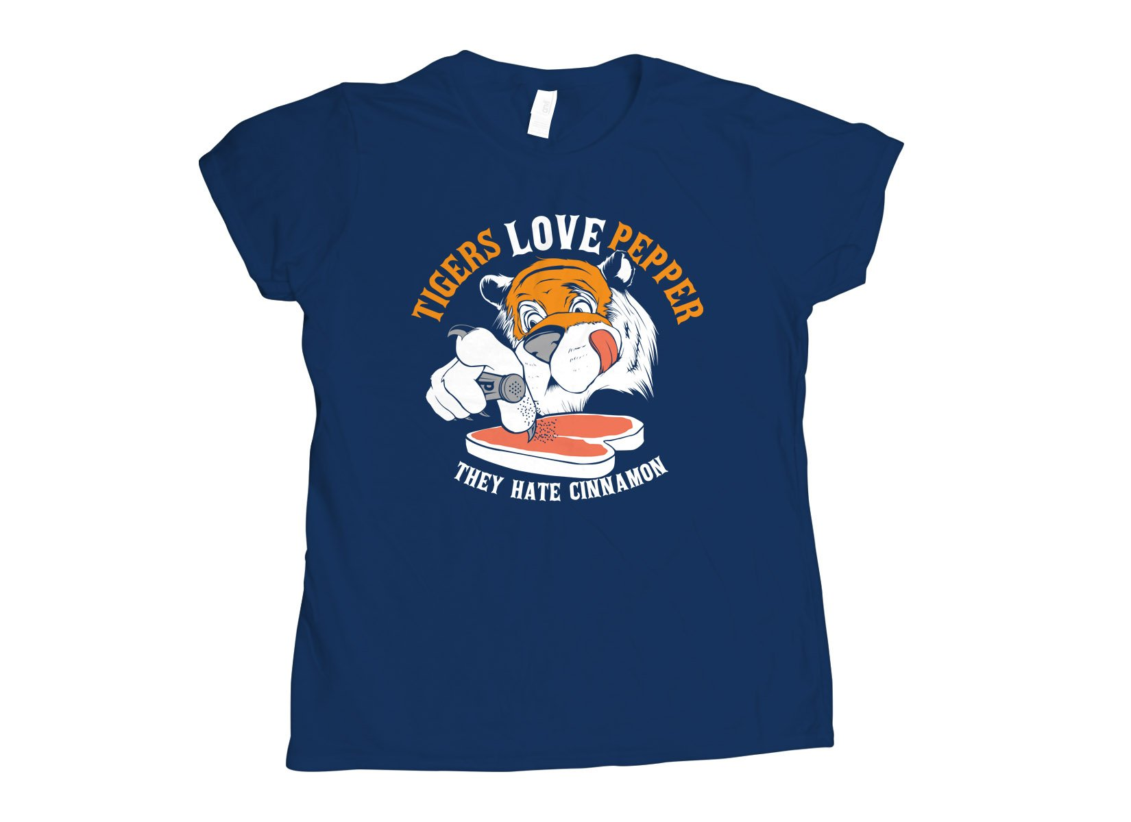 Tigers Love Pepper on Womens T-Shirt