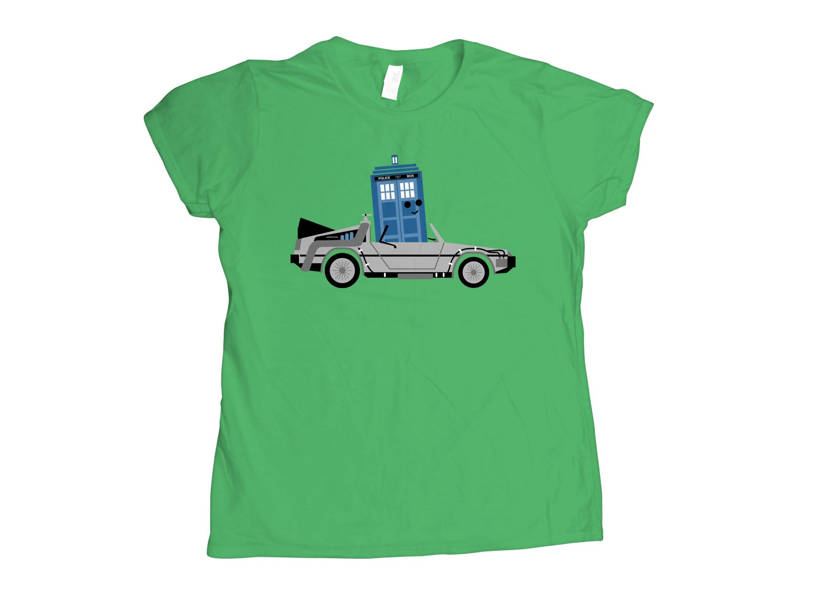 Time Machine x Two on Womens T-Shirt