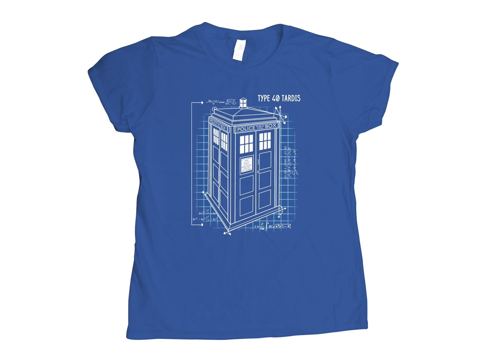 Type 40 Tardis on Womens T-Shirt