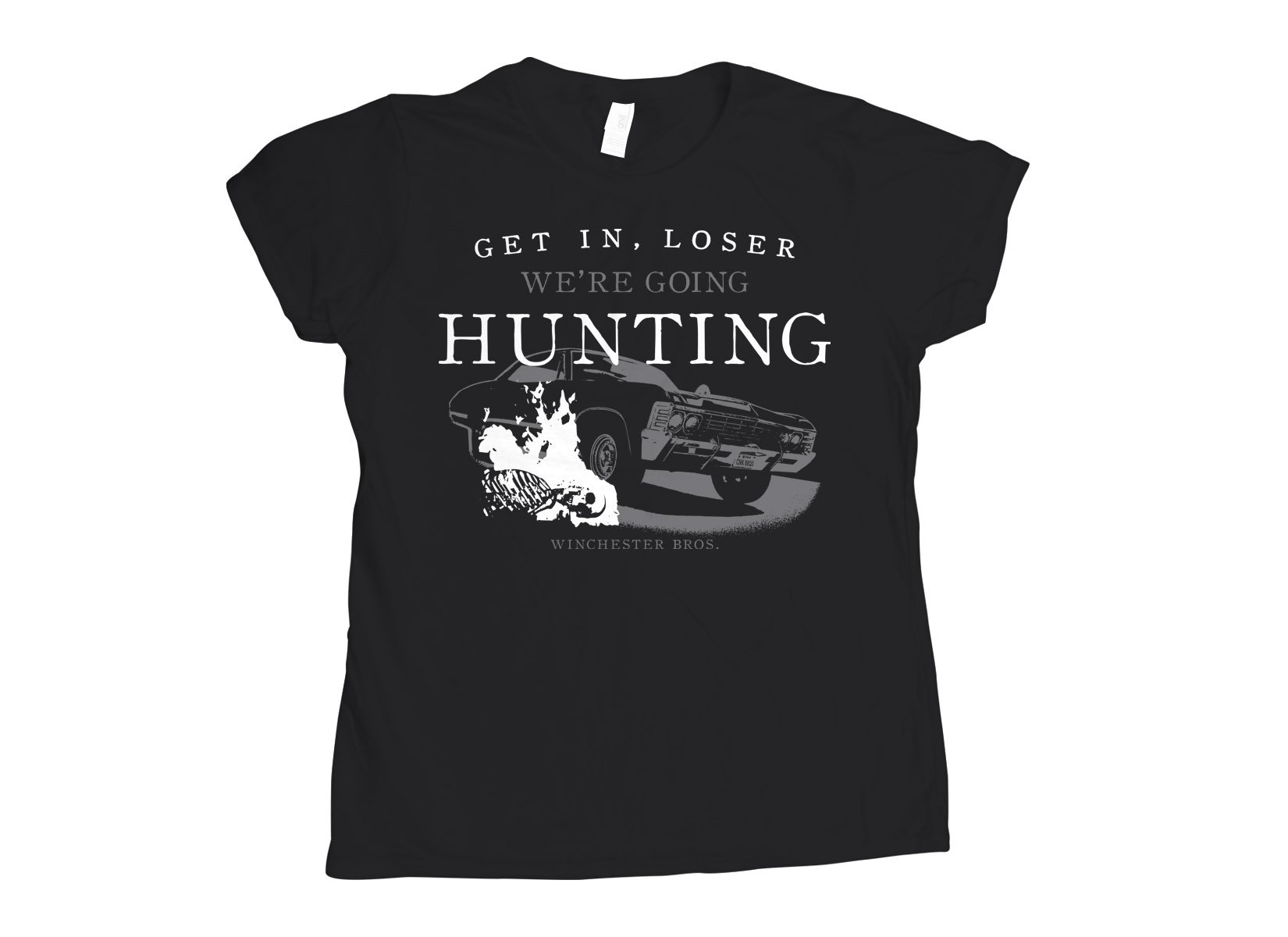 We're Going Hunting on Womens T-Shirt