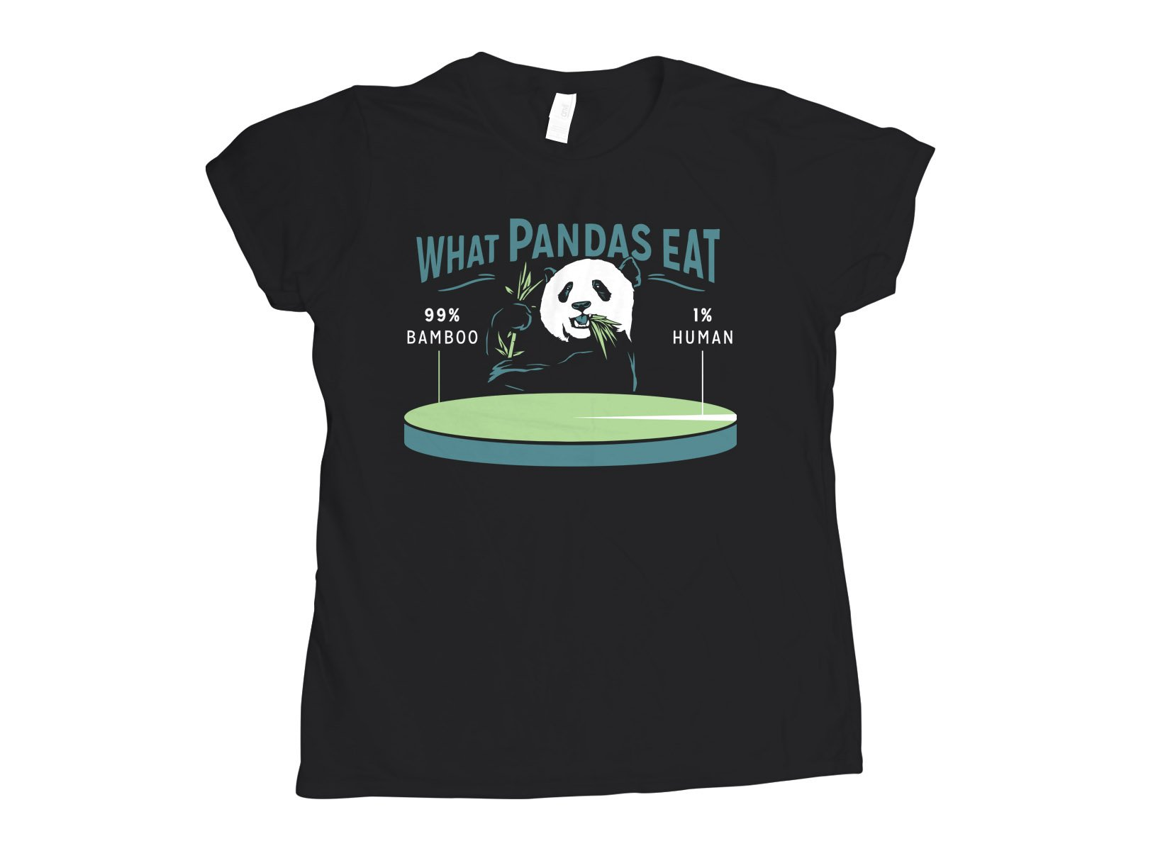 What Pandas Eat on Womens T-Shirt
