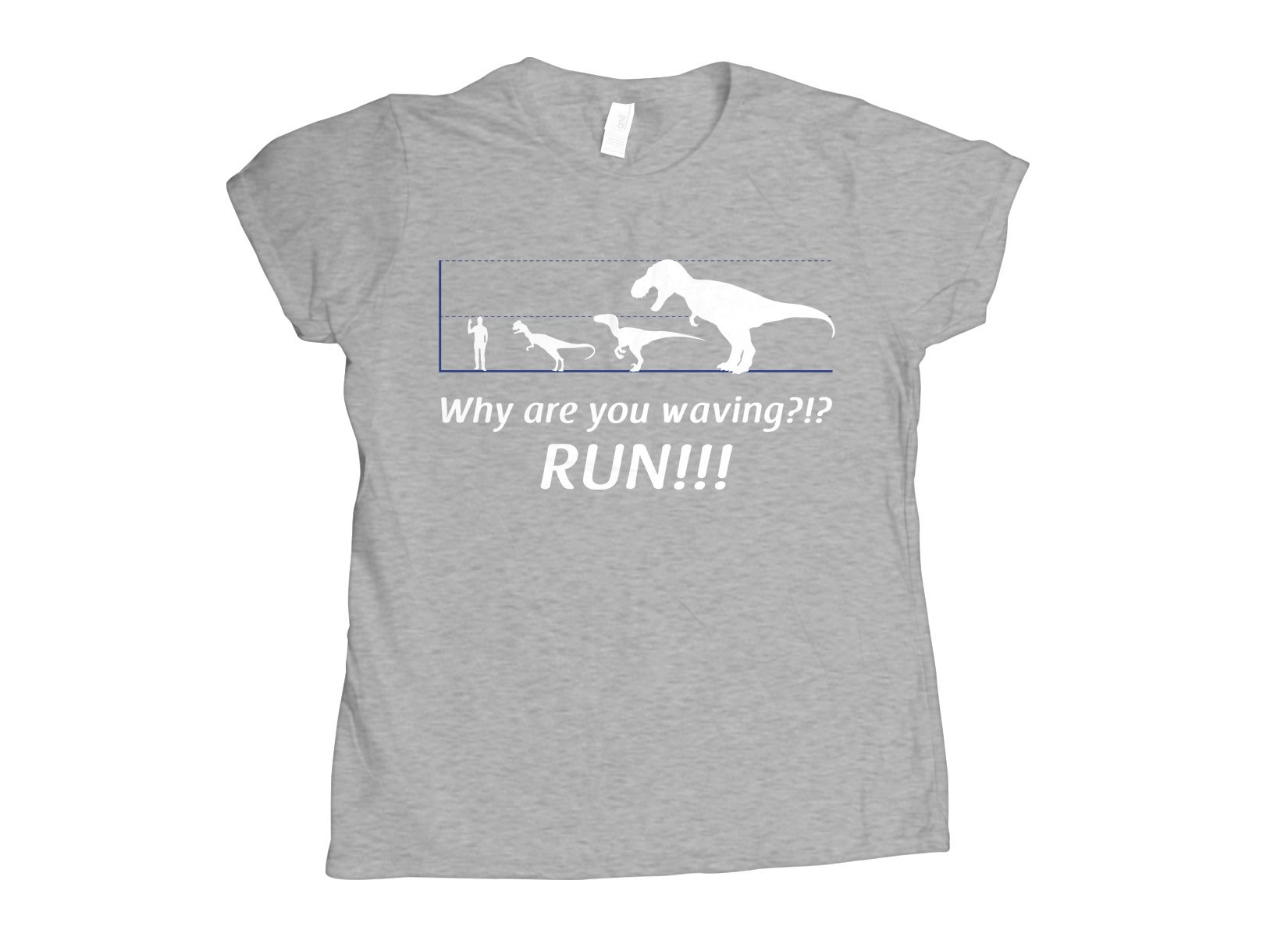 Why Are You Waving? Run! on Womens T-Shirt
