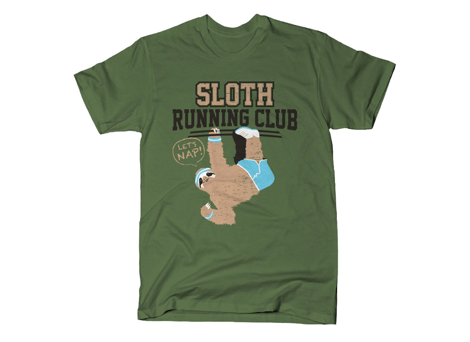 Sloth Running Club on Mens T-Shirt